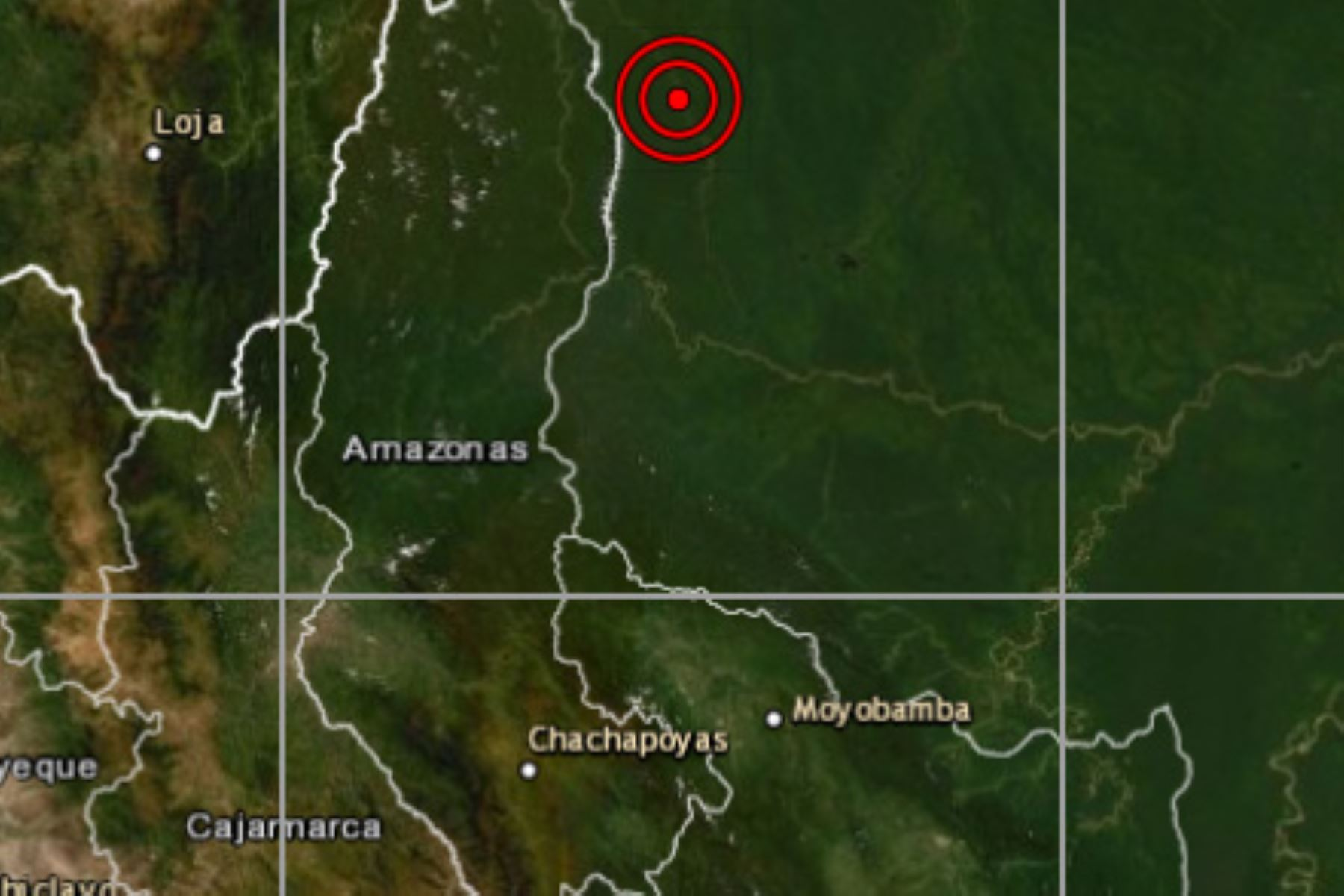 El IGP reportó un sismo de magnitud 4.8 en Santa Maria de Nieva, capital de la provincia amazonense de Condorcanqui.