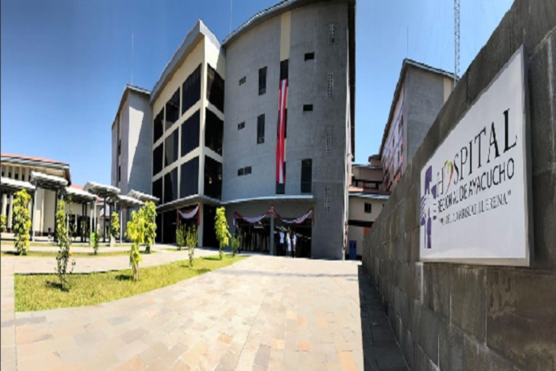 El Hospital Regional de Ayacucho es uno de los nosocomios que se puso en marcha el último año. ANDINA/Difusión