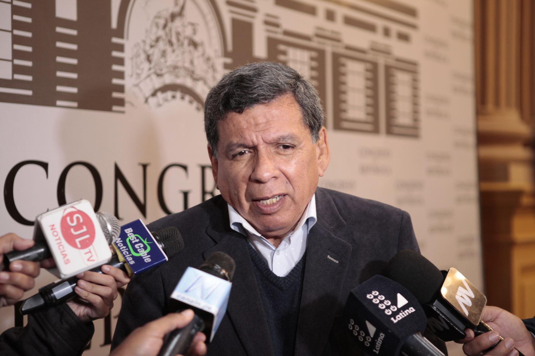 Cevallos se pronunció también por la presidencia de Rosa Bartra en dicha comisión. ANDINA/Miguel Mejía
