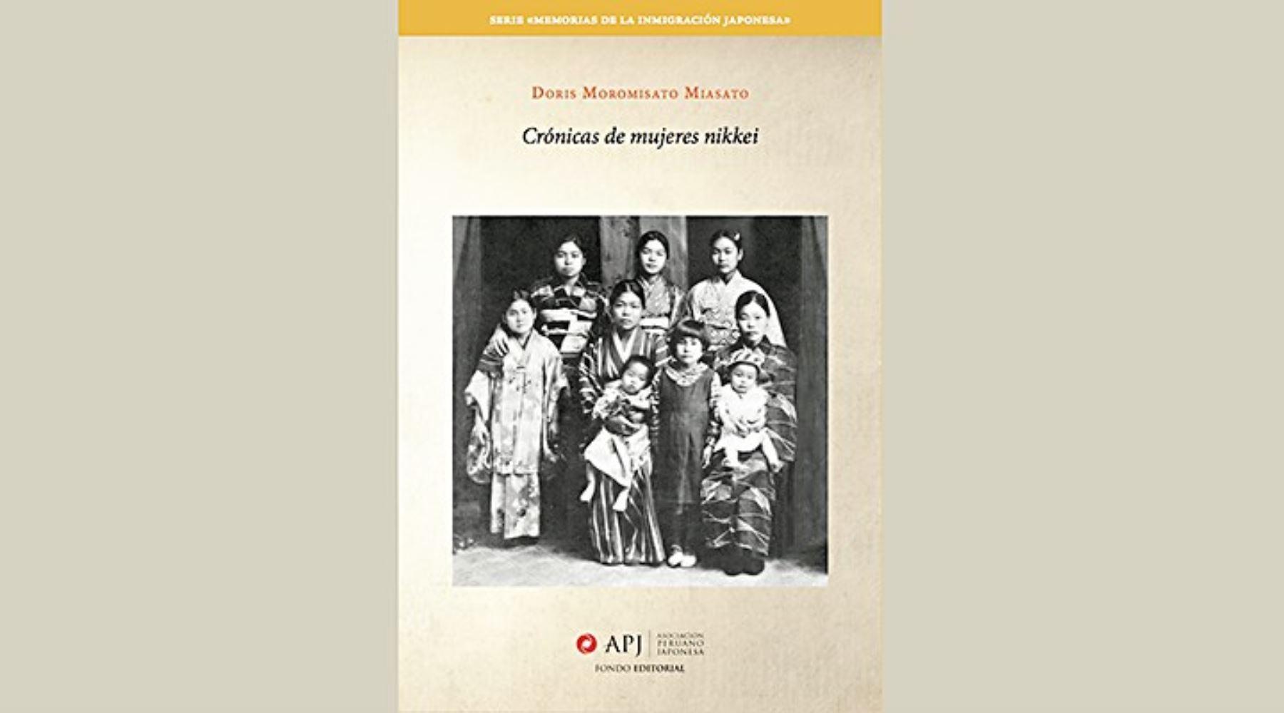 Portada del libro Crónicas de mujeres nikkei de Doris Moromisato.