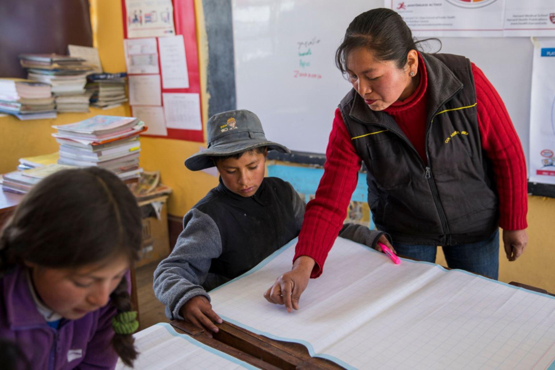 La deserción de docentes en las zonas rurales de Arequipa se reduce a cero. ANDINA/Difusión