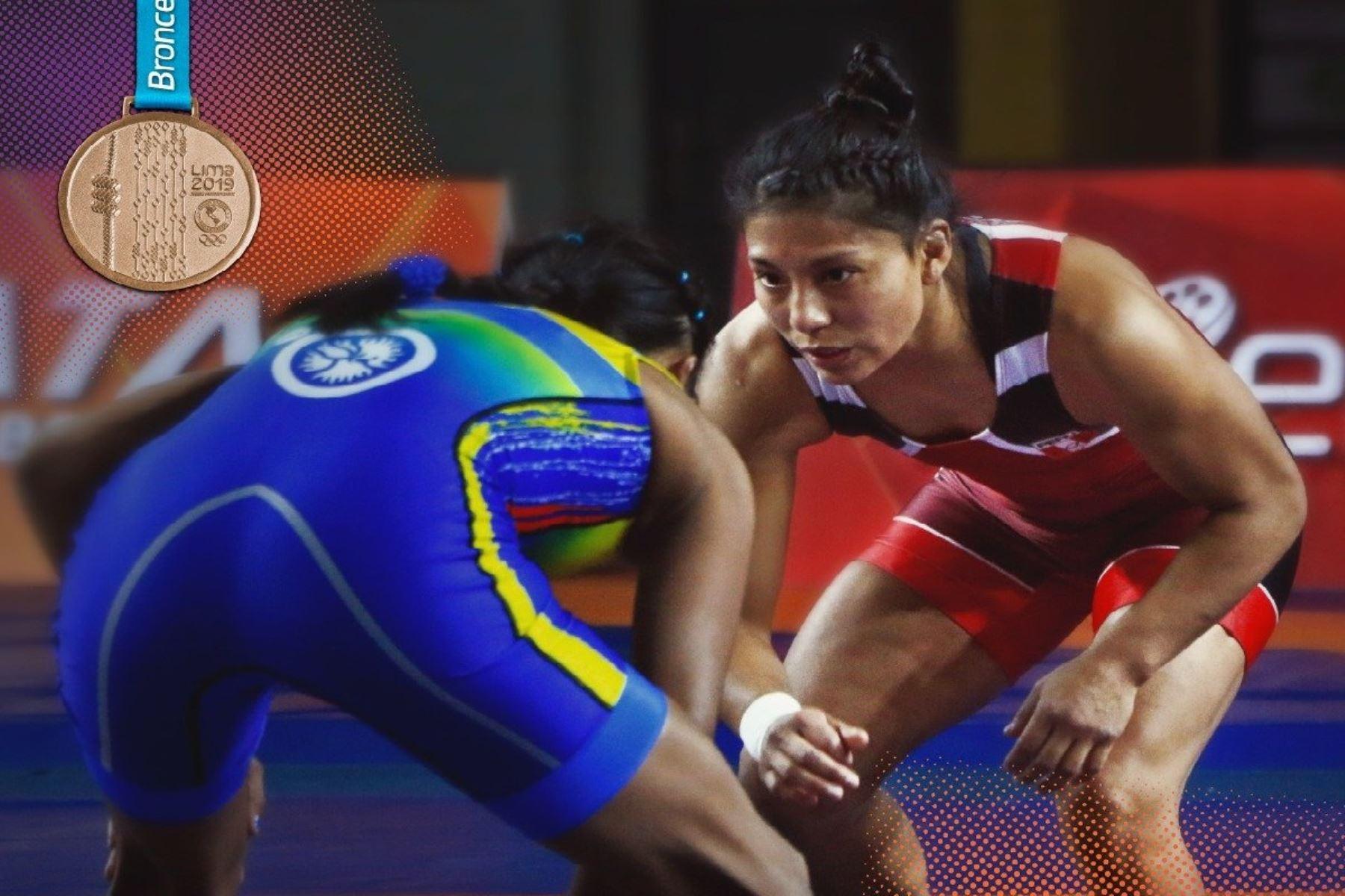 Lima 2019: Thalía Mallqui logra la medalla de bronce en lucha femenina