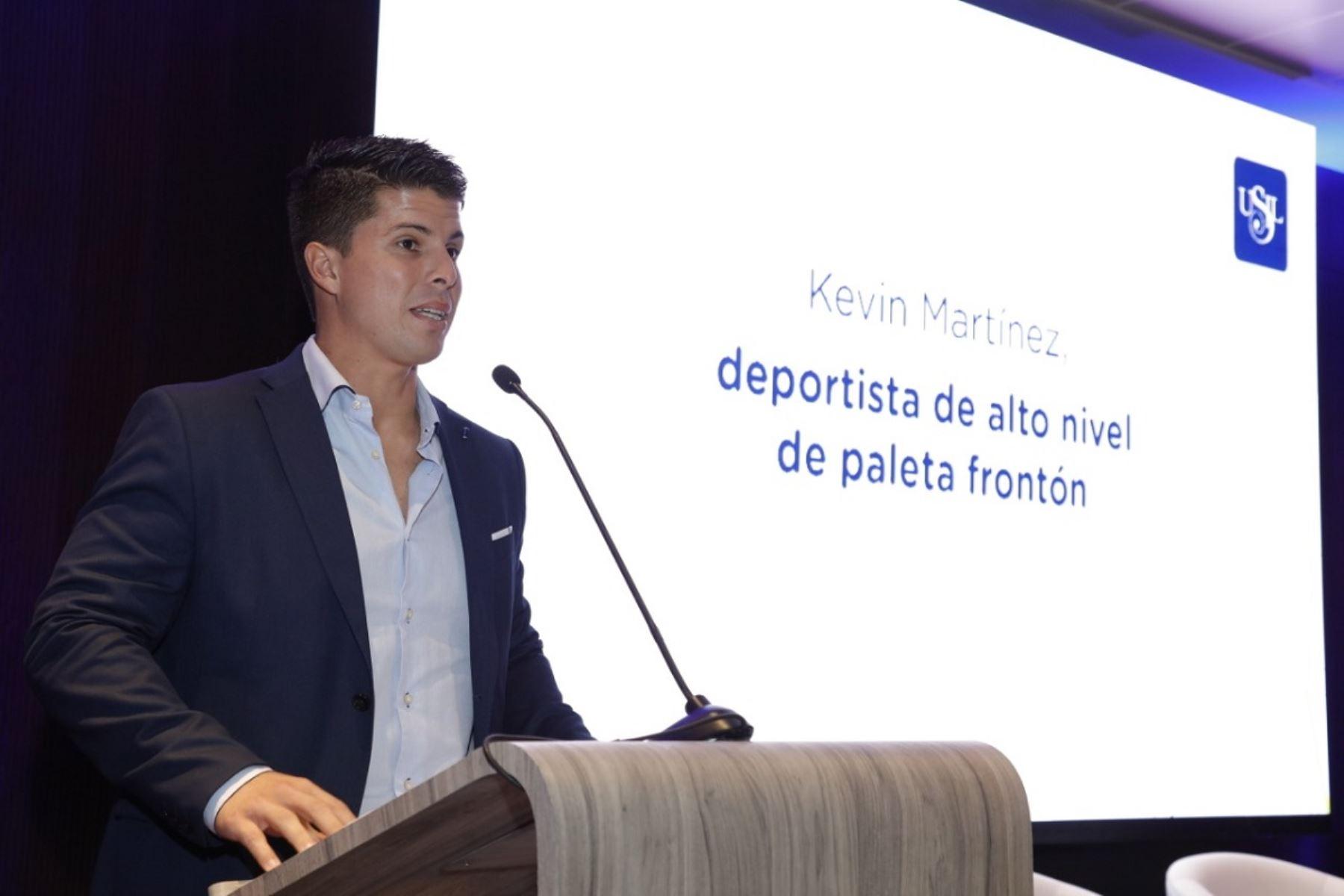 Kevin Martínez estudiará la carrera de ciencias del deporte.