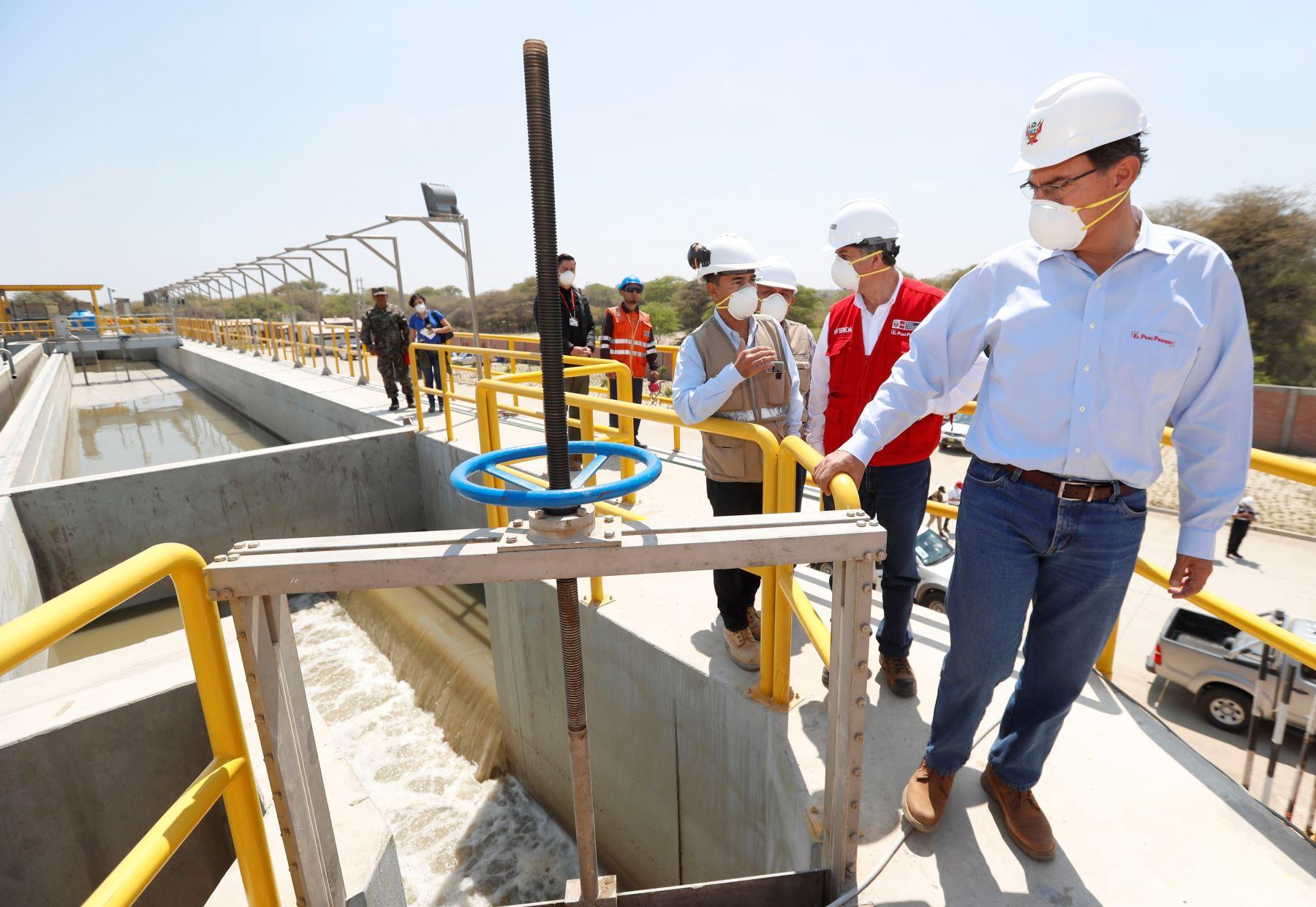 Planta de tratamiento de aguas residuales de Piura beneficia a 240,000 pobladores de esa región. ANDINA/Difusión