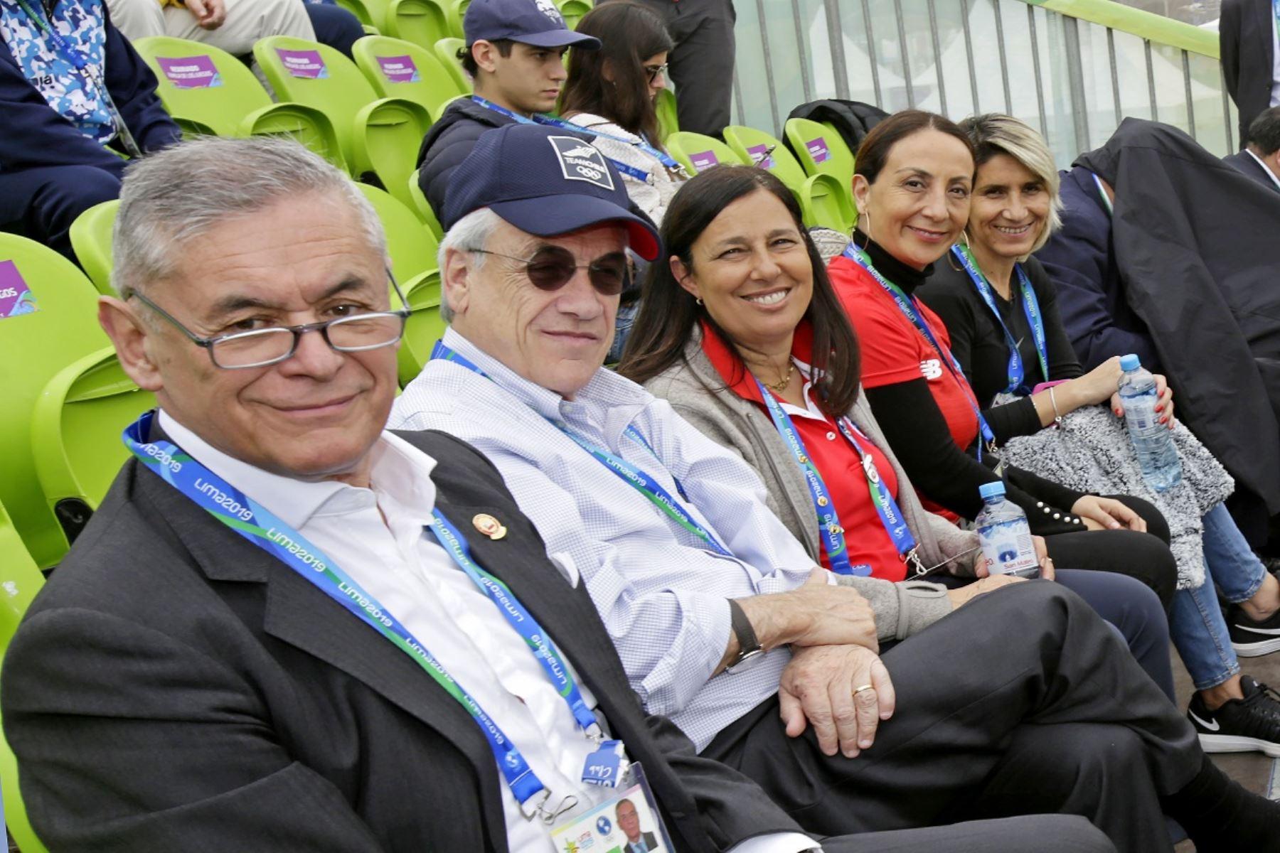 Sebastián Piñera vive la fiesta de Lima 2019