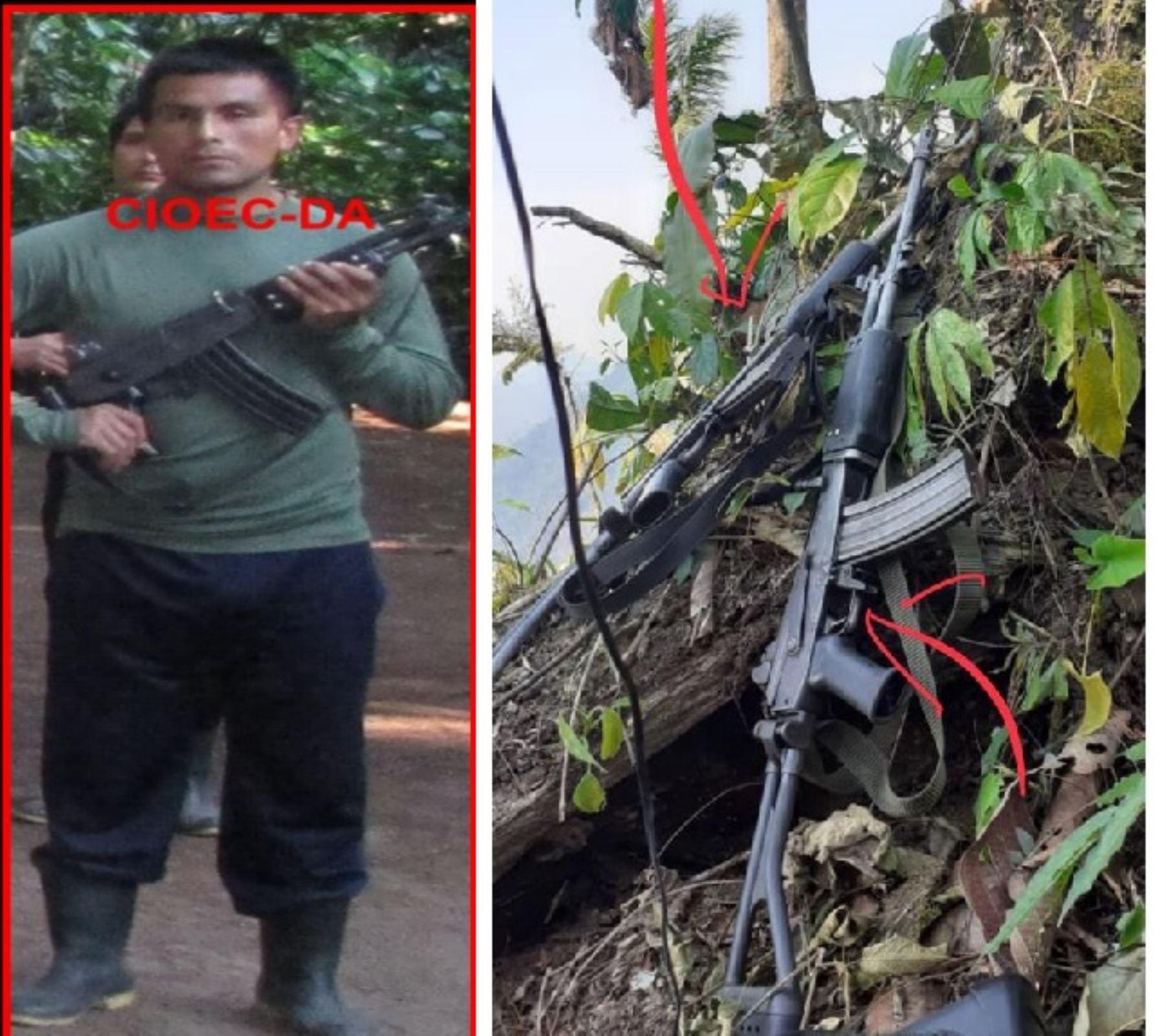 """Fuerza conjuntas de las FFAA y de la PNP abaten a terrorista alias """"Miguel Bomba"""", mando militar de SL"""