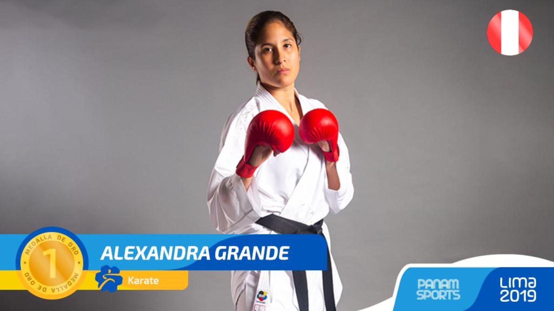 Medalla de oro para Alexandra Grande.