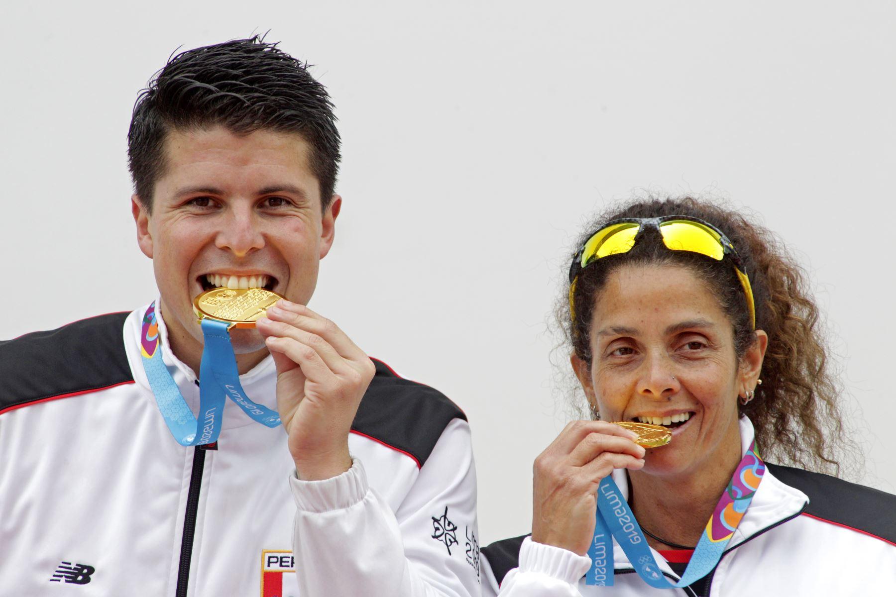 Claudia Suárez ganó la medalla de oro en frontón y con ello la delegación peruana suma nueve preseas doradas en los Juegos Panamericanos Lima 2019.Foto:ANDINA 2019