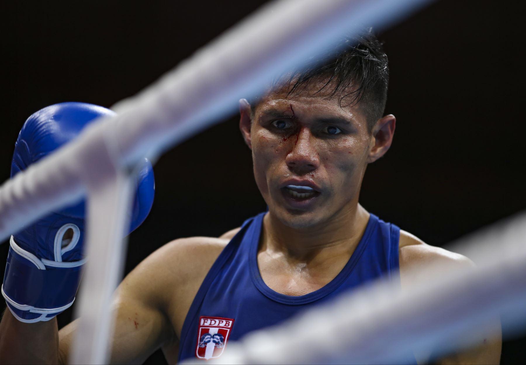 Leodan Pezo, medalla de bronce en boxeo. Foto:Lima 2019