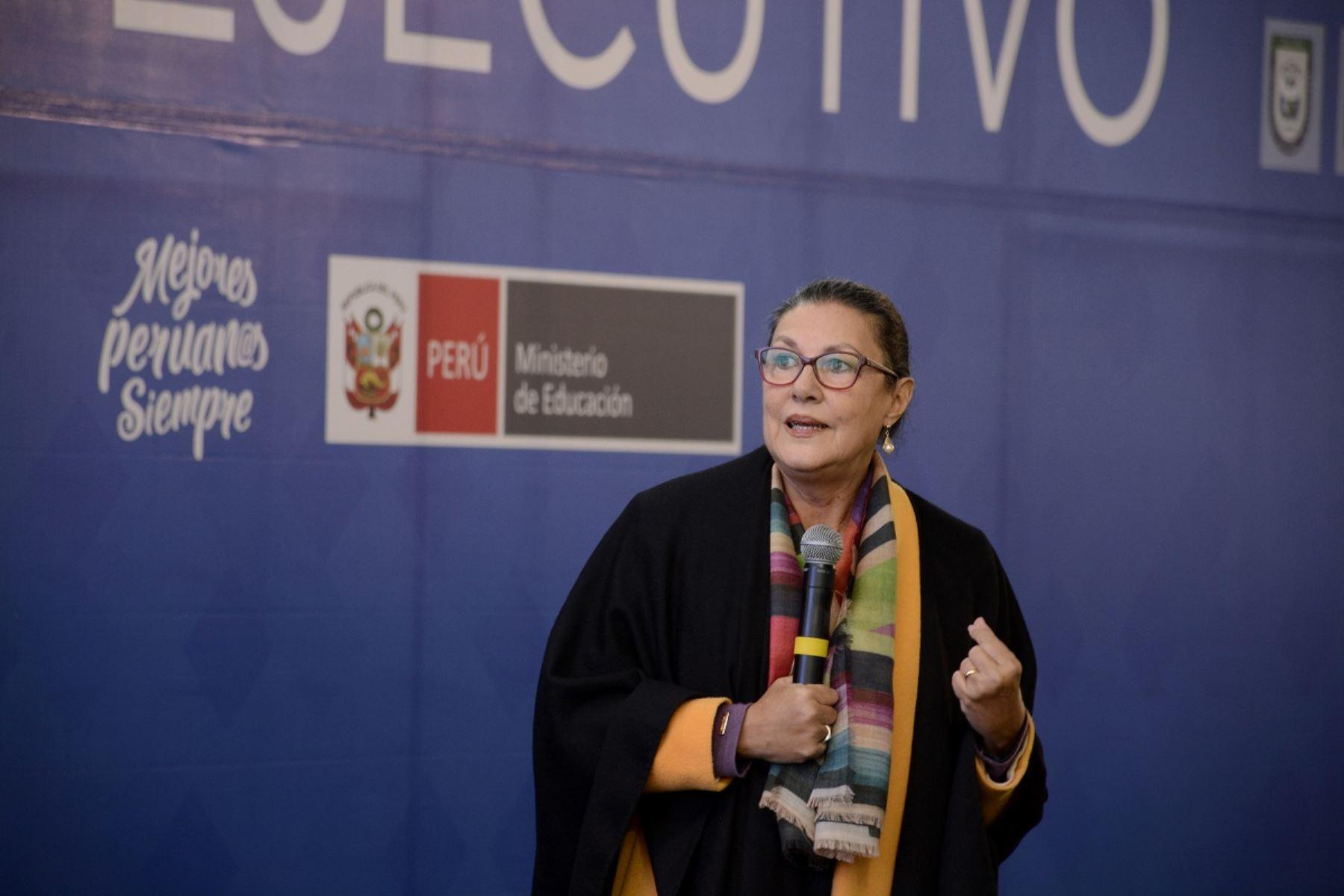 Titular del Concytec, Fabiola León-Velarde. Foto: Cortesía.