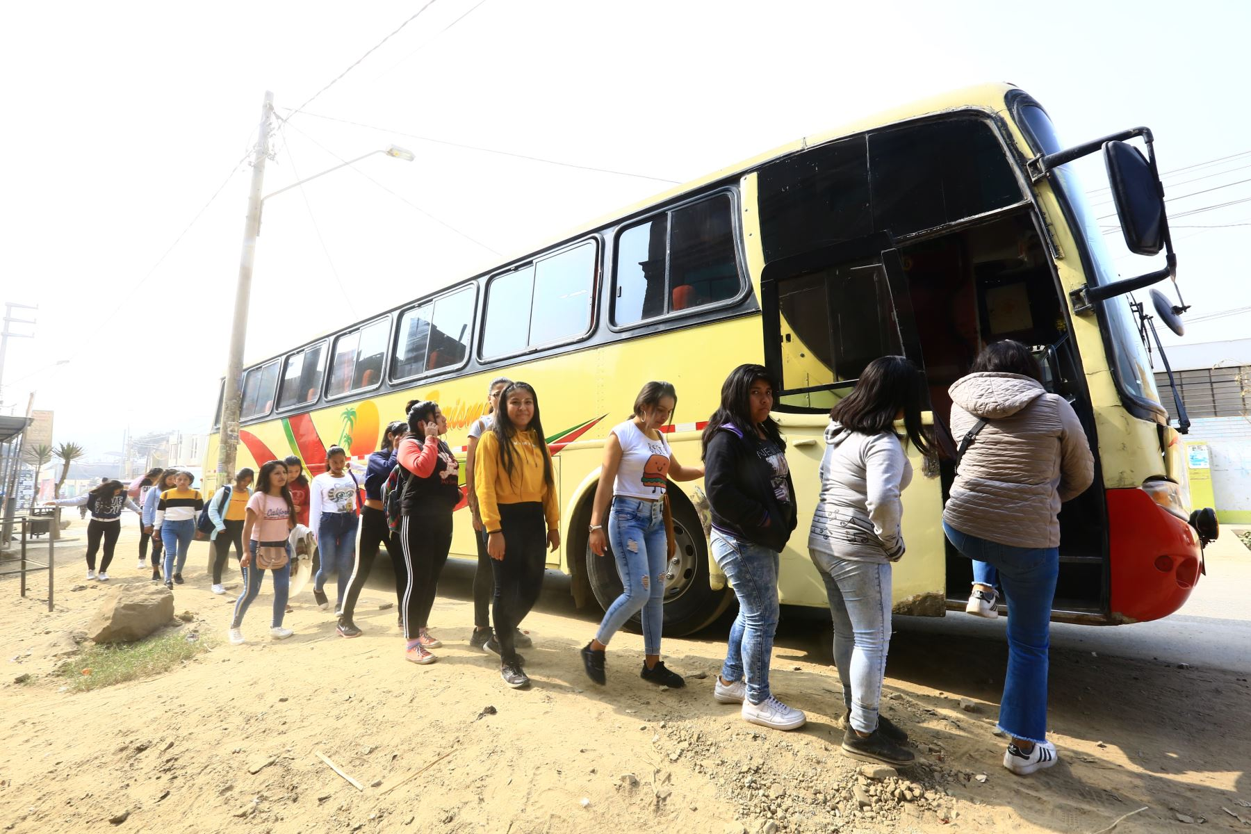 Niños de Huachipa asisten a la Clausura de los Juegos Panamericanos gracias a las entradas Solidarias de Lima 2019  Foto: ANDINA/Pedro Cardenas