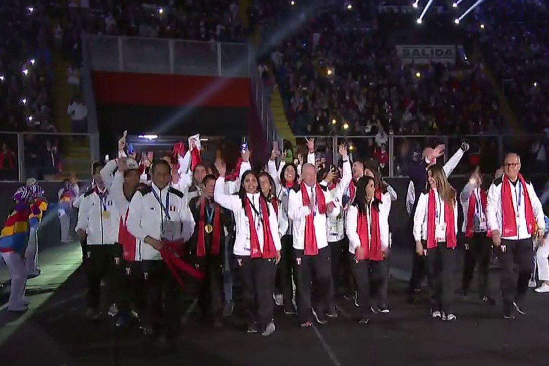 La delegación peruana inició el desfile en la ceremonia de clausura de Lima 2019. Foto: Captura/ESPN