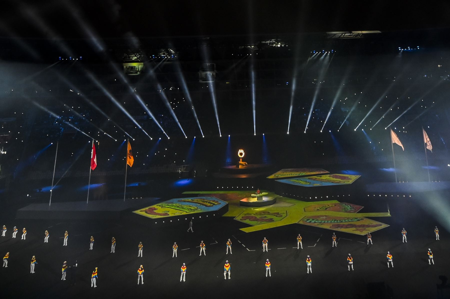 Vista general tomada durante la ceremonia de clausura de los Juegos Panamericanos de Lima 2019 en Lima el 11 de agosto de 2019. AFP