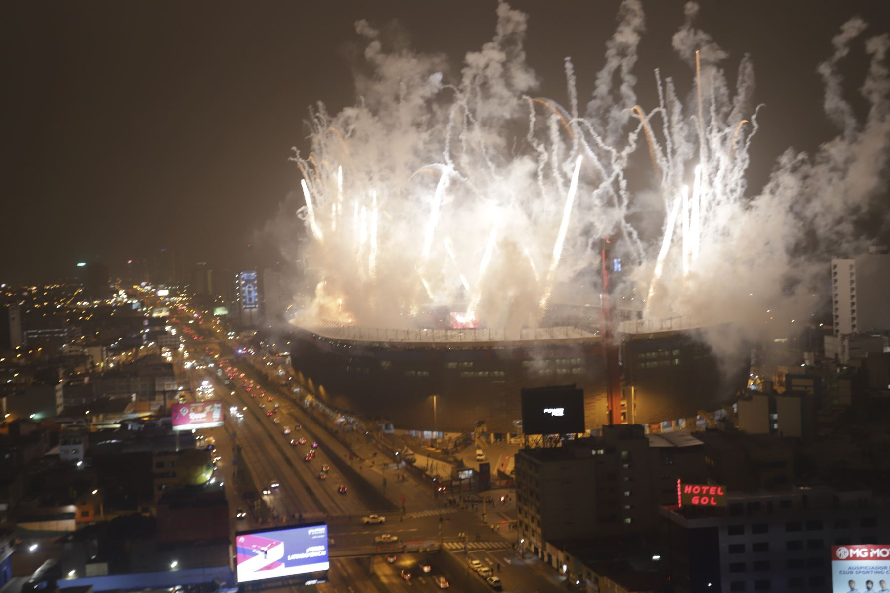 Estadio Nacional, Ceremonia de clausura de los Juegos Panamericanos de Lima 2019. Foto: ANDINA/Jorge Tello