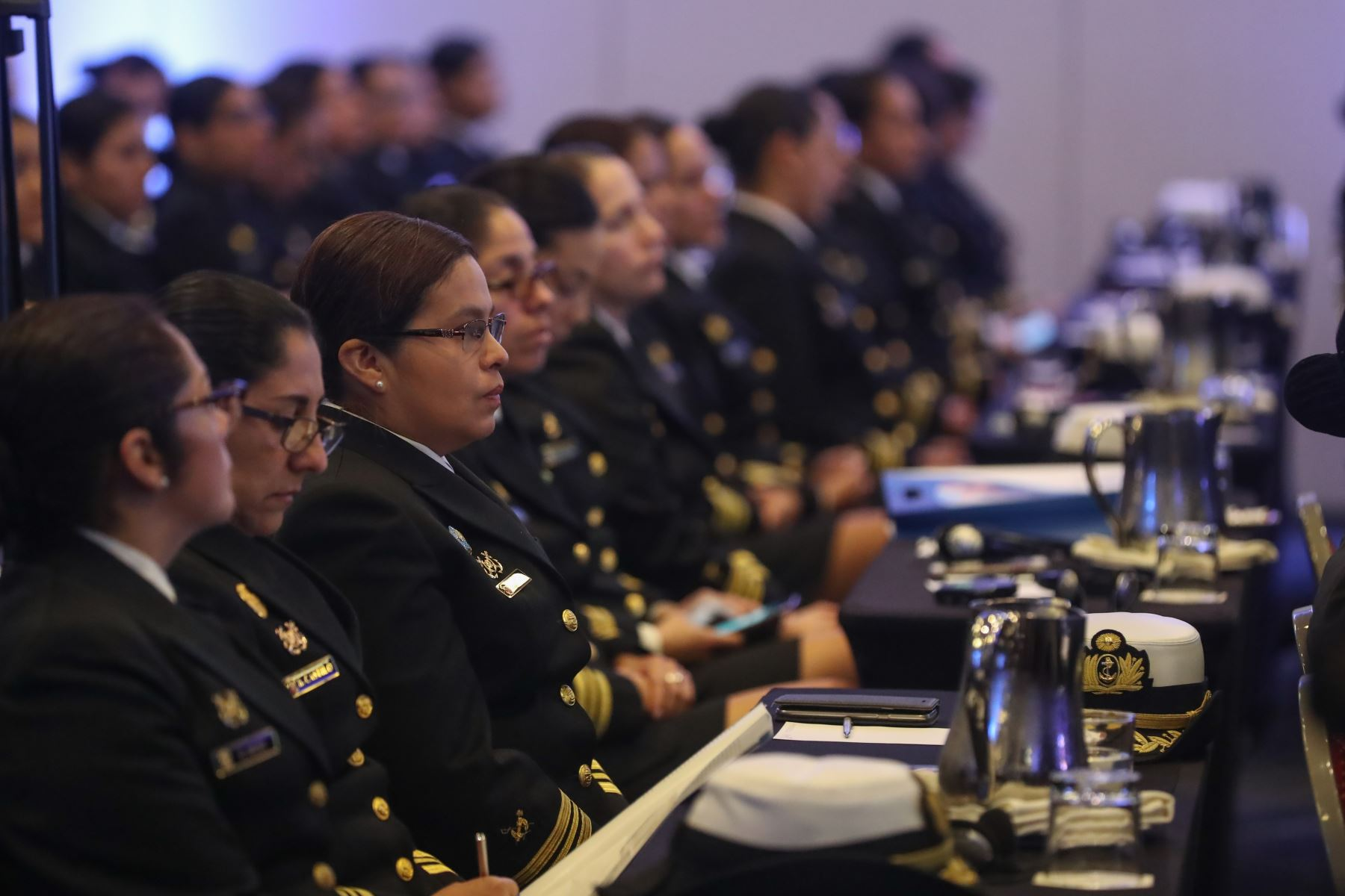 Ministro de Defensa Jorge Moscoso inauguró el Foro Internacional: La Mujer en la Armada. Foto: ANDINA/MINDEF