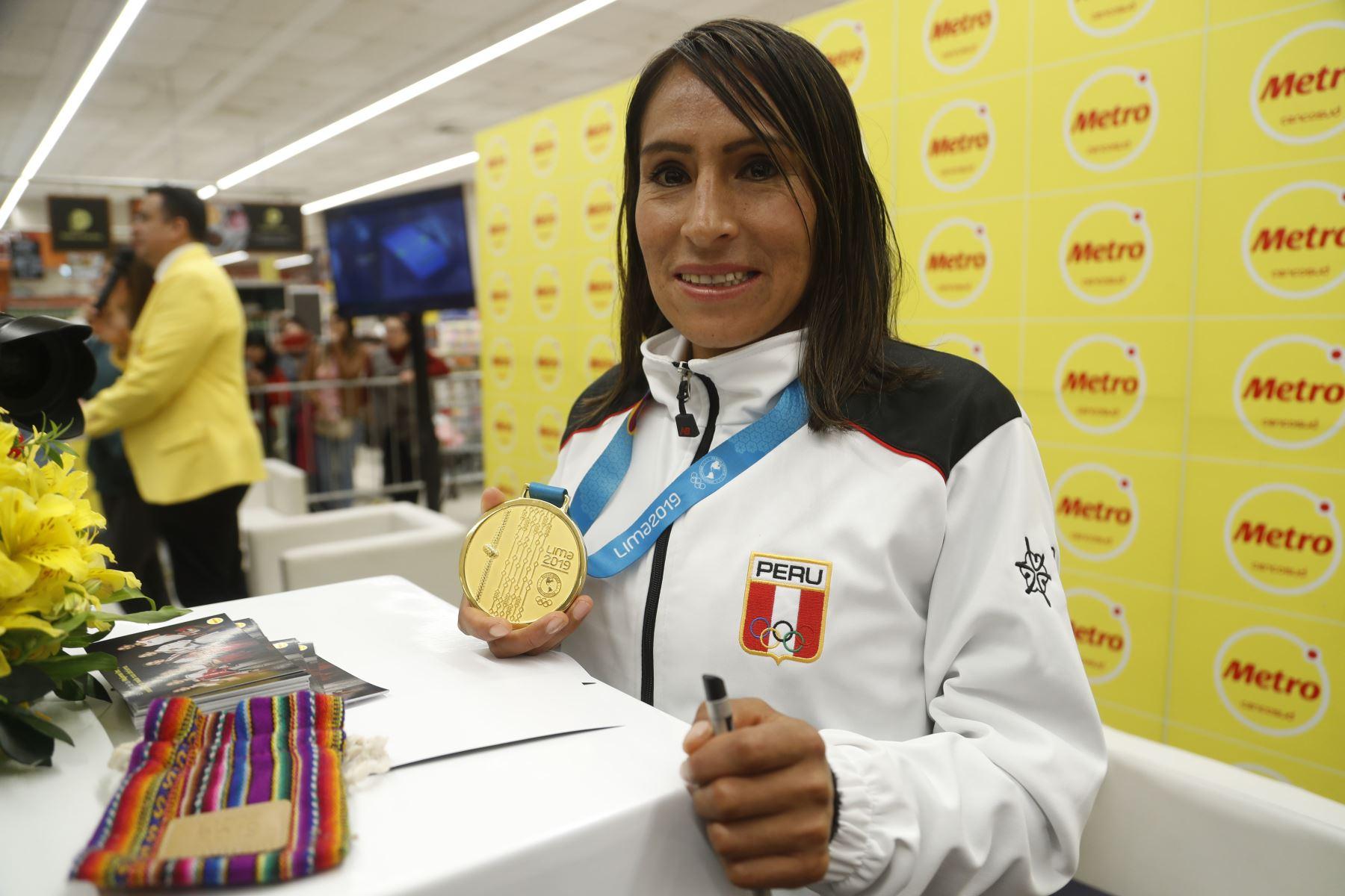 Gladys Tejeda, deportista peruana de la especialidad de Karate. Fue medalla de oro en los Juegos Panamericanos de Lima 2019. Foto: ANDINA/Josue Ramos