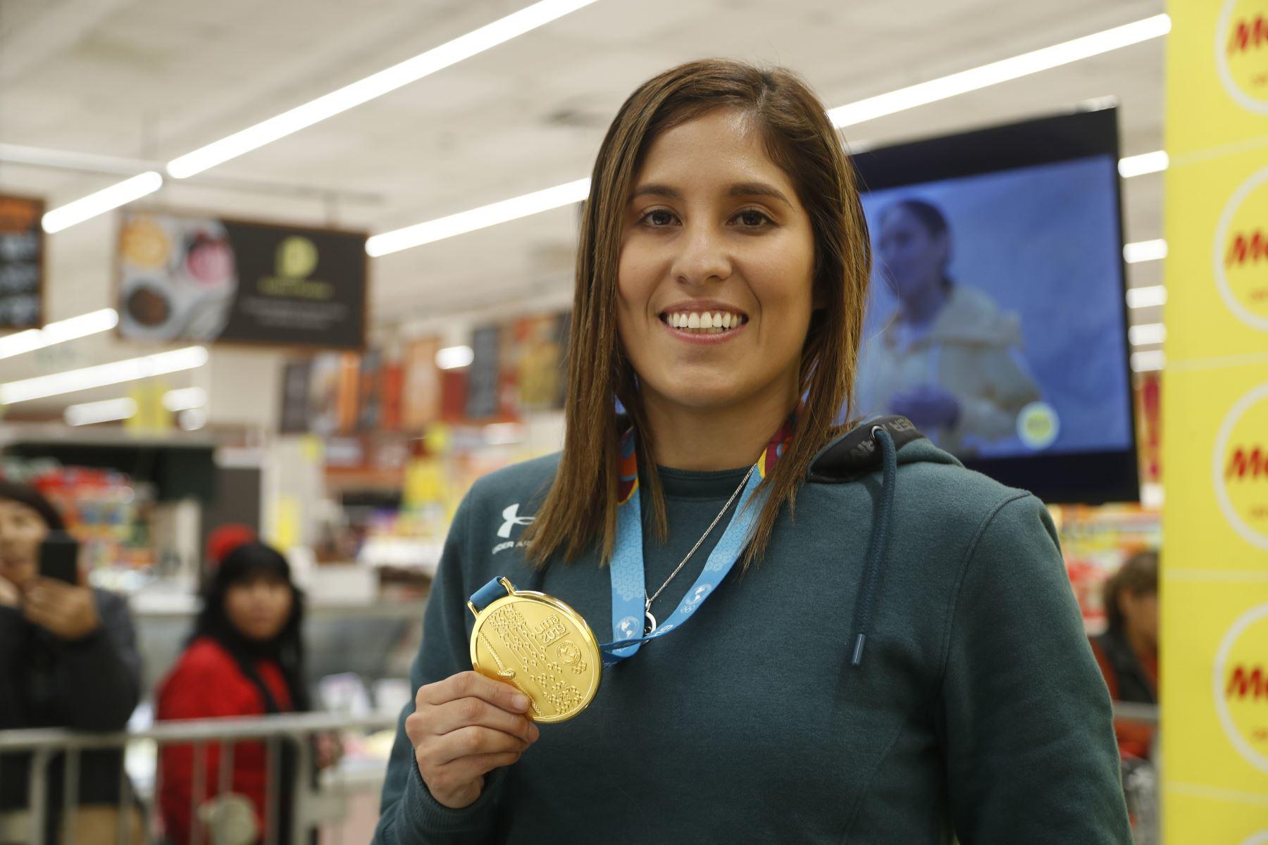 Alexandra Vanessa Grande Risco, deportista peruana de la especialidad de karate. Medallista de oro en los Juegos Panamericanos Lima 2019. Foto: ANDINA/Josue Ramos.