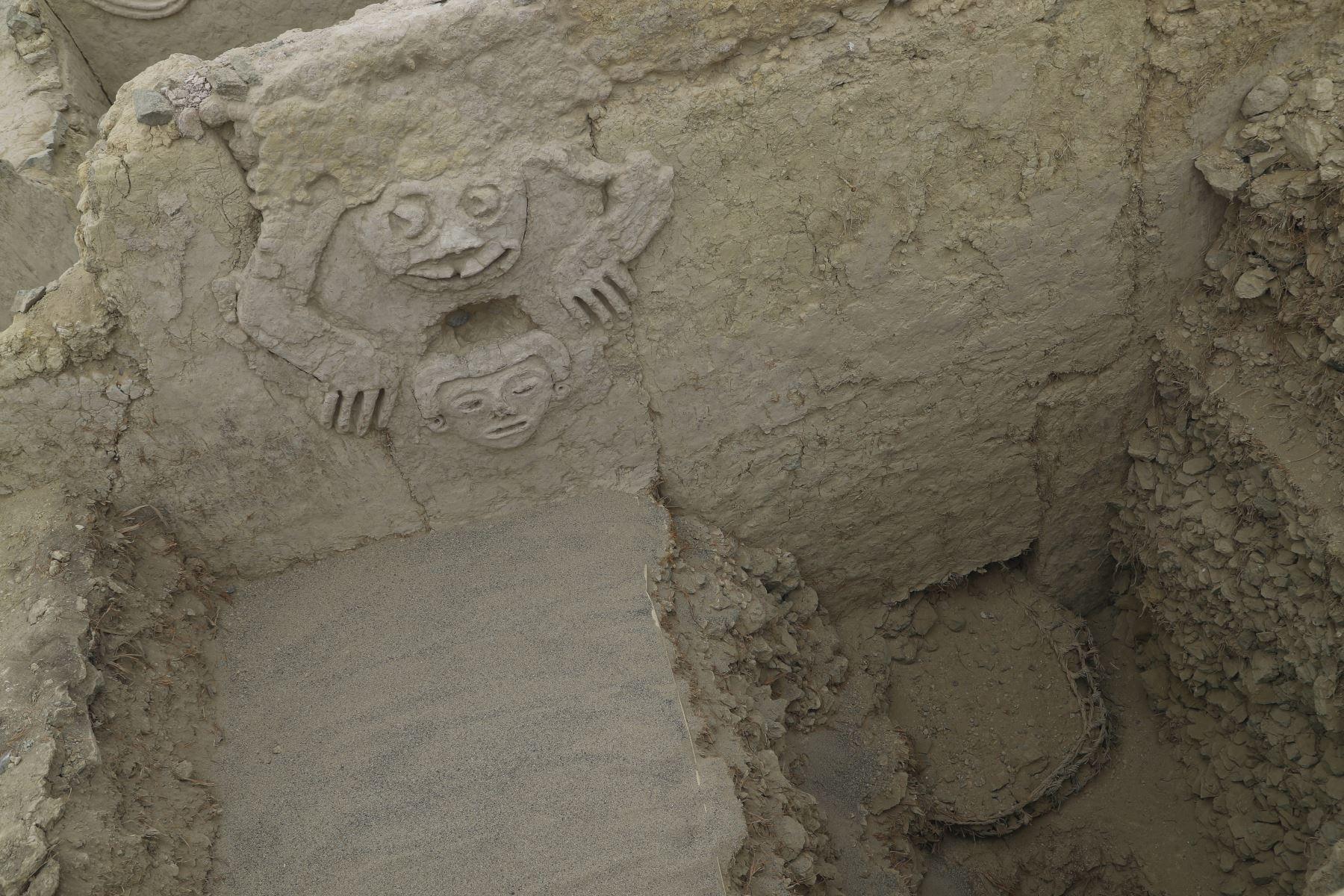 Descubren un muro de la civilización Caral en Perú se encuentra en uno de los edificios de Vichama. Foto: ANDINA/Josue Ramos
