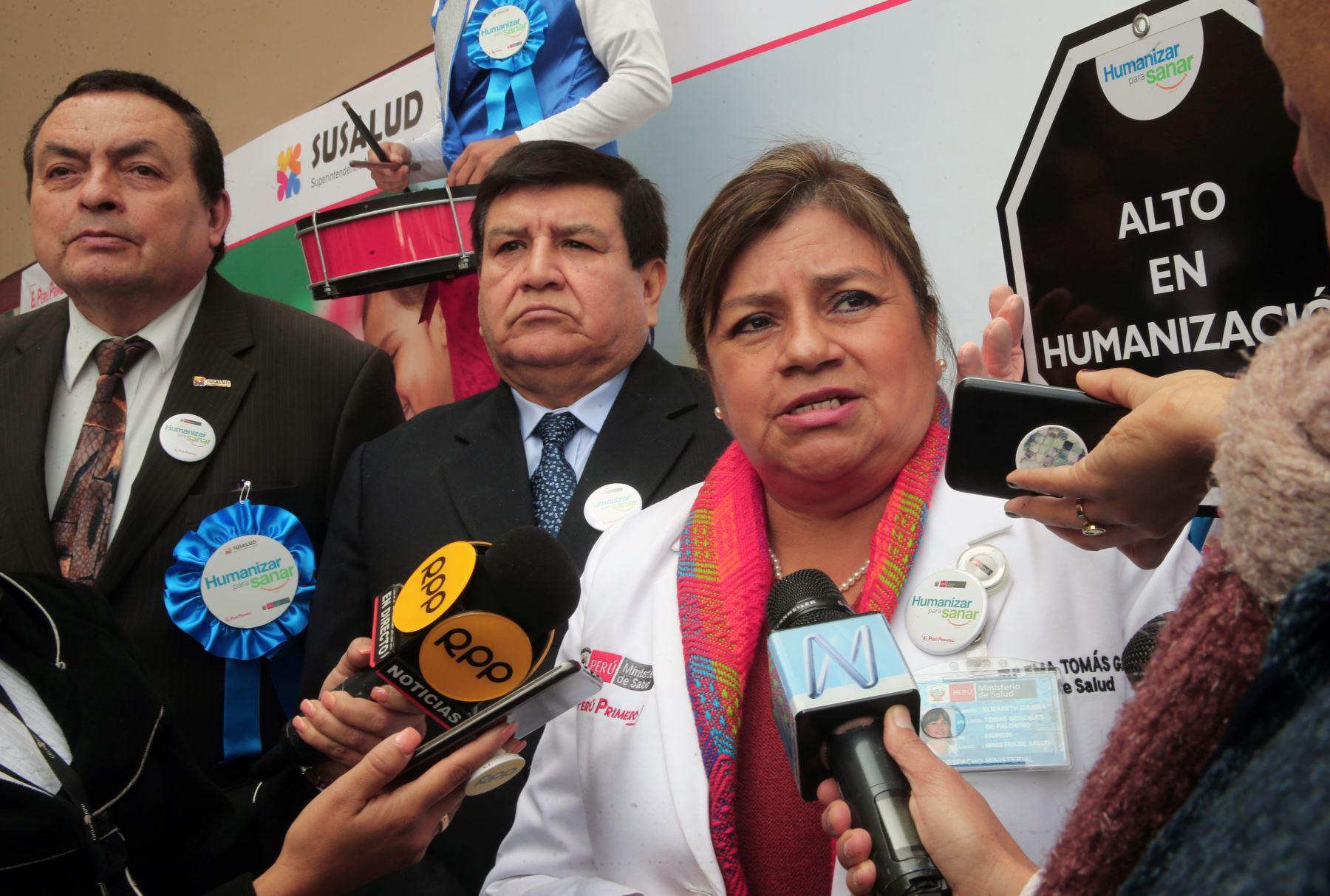 Zulema Tomás llegó al INSN-San Borja para celebrar el Día Nacional de la Salud y el Buen Trato al Paciente Foto: ANDINA/Norman Córdova