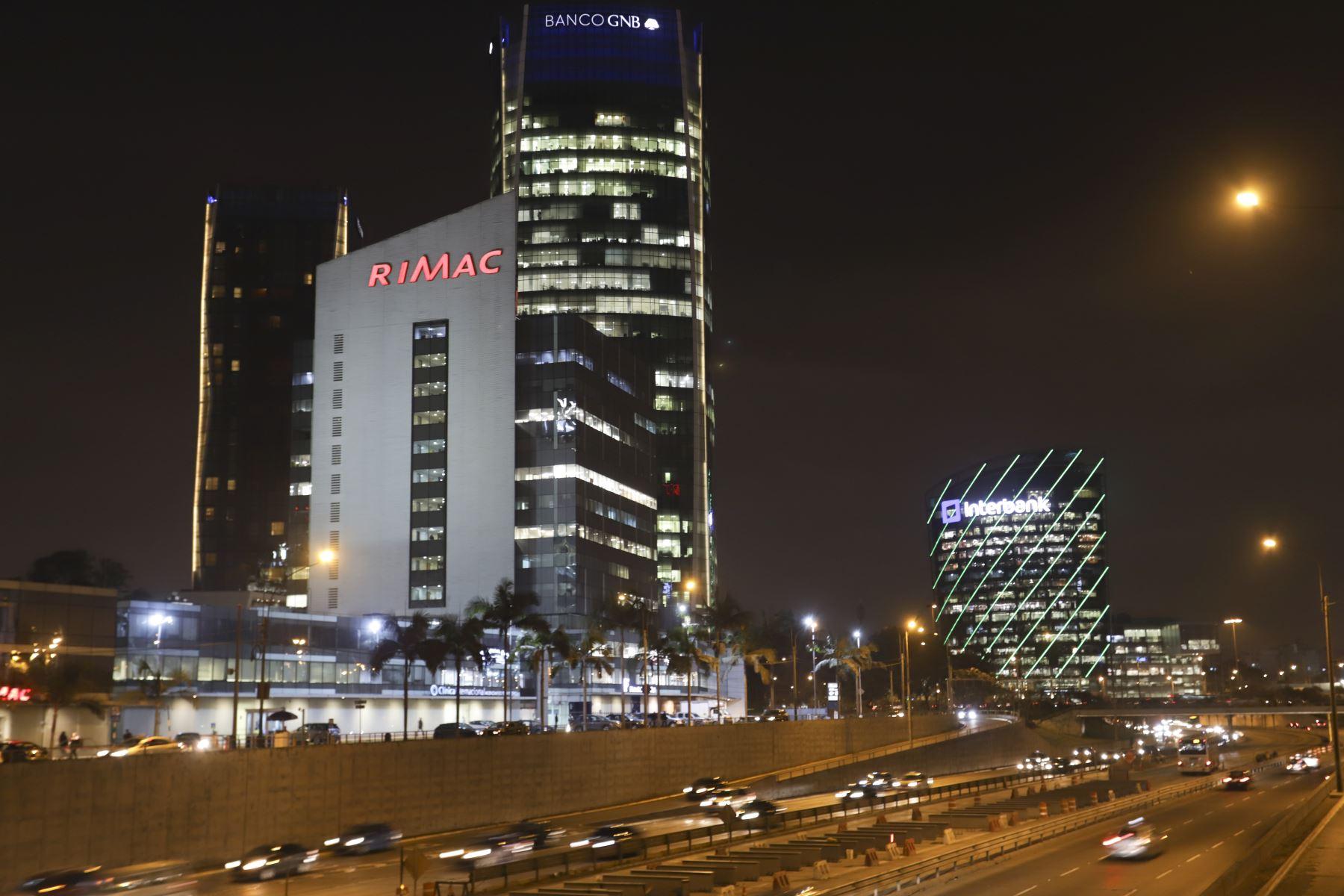 Centro financiero de Lima. Foto: ANDINA/Jorge Tello