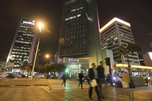 Centro financiero de Lima.Foto:  ANDINA/Jorge Tello