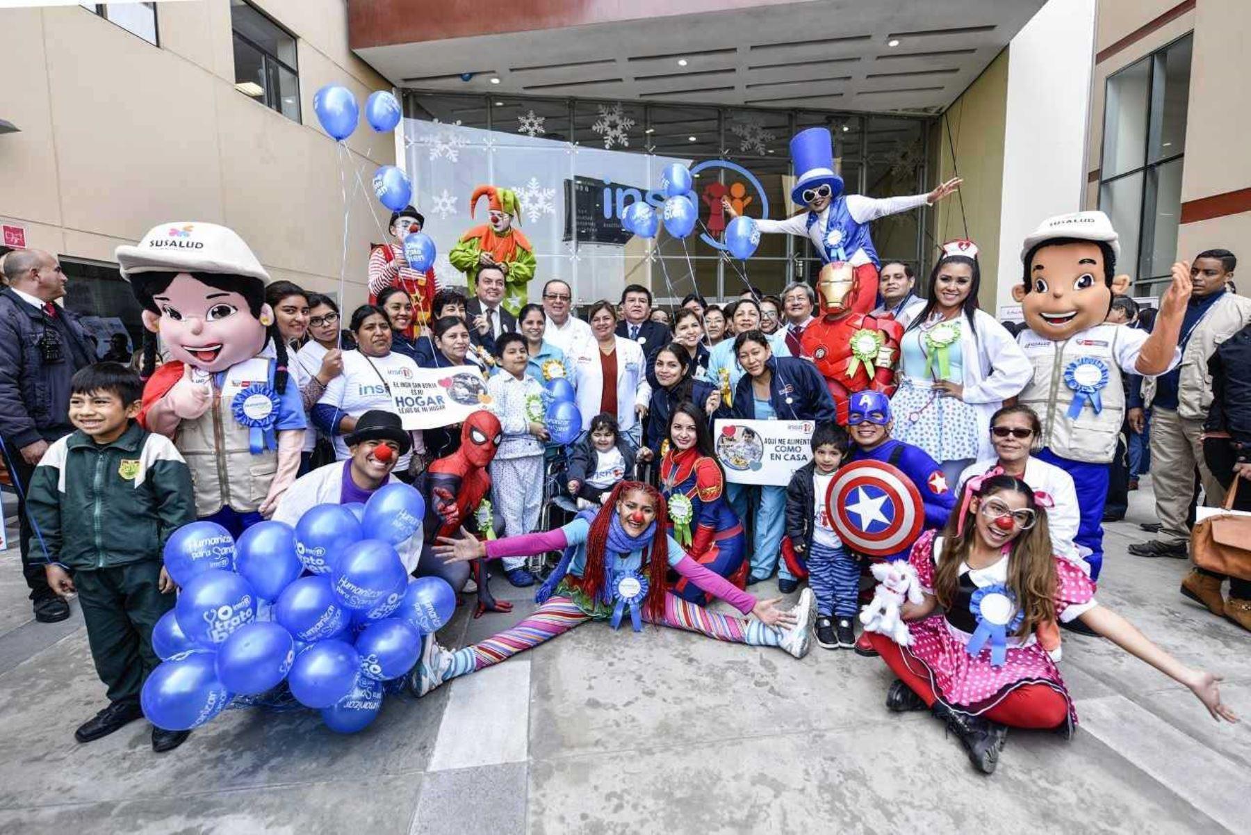 Niños del INSN-San Borja celebraron el Día del buen trato al paciente. Foto: ANDINA/Difusión.