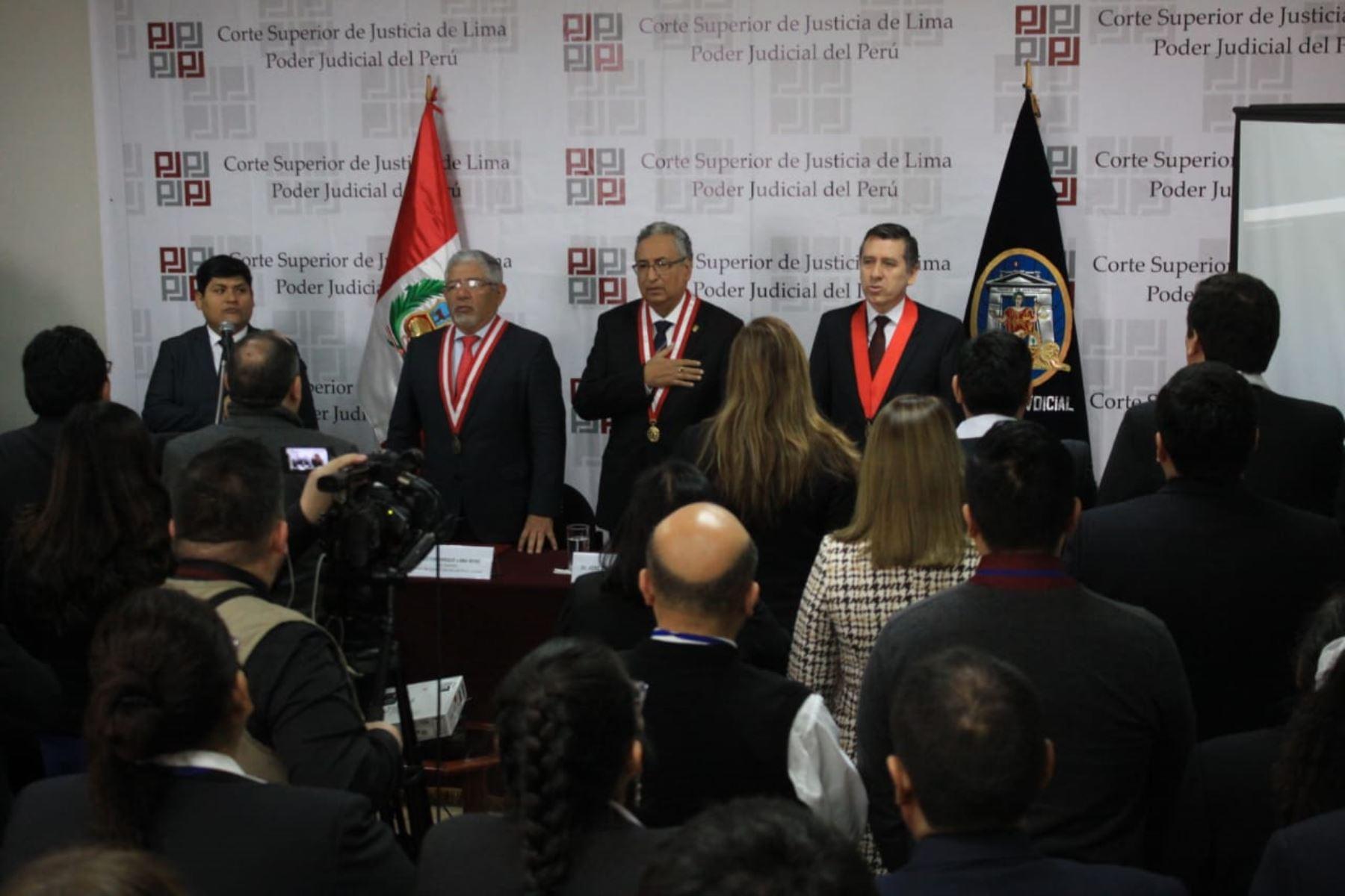 Poder Judicial pone en funcionamiento modulo de litigación oral en Corte Superior de Lima.