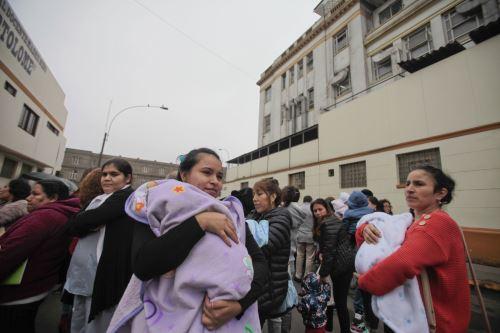 Simulacro nacional de sismo en el Hospital San Bartolomé