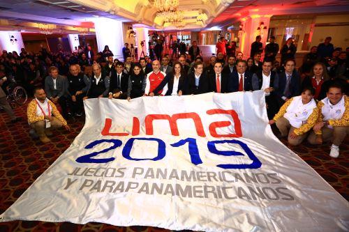 Ceremonia de  la presentación oficial de la delegación peruana para los Juegos Parapanamericanos Lima 2019