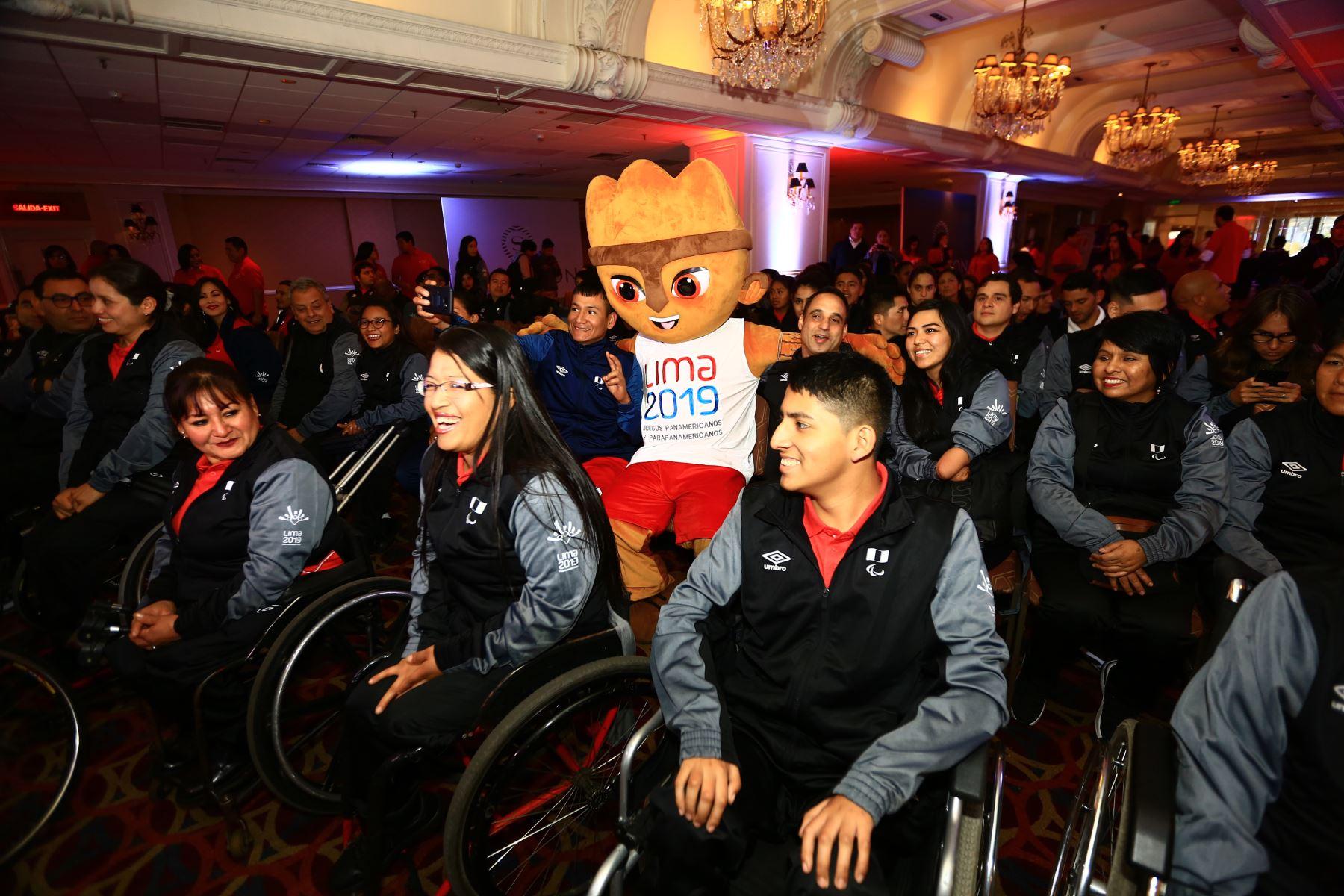 Ceremonia de la presentación oficial de la delegación peruana para los Juegos Parapanamericanos Lima 2019.Foto:ANDINA/ Pedro Cardenas