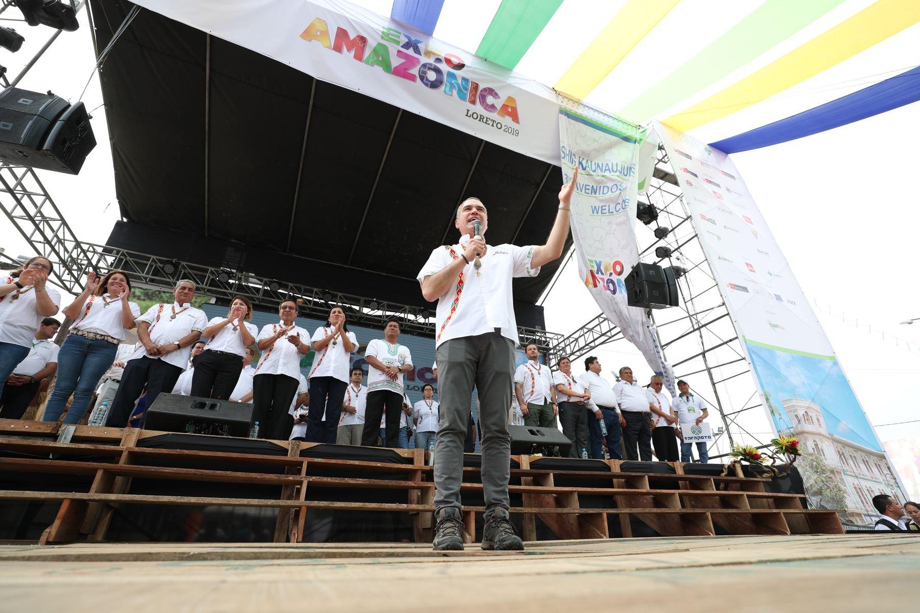 Presidente del Consejo de Ministros, Salvador del Solar, inauguró ExpoAmazónica 2019 en Loreto.Foto: ANDINA/PCM
