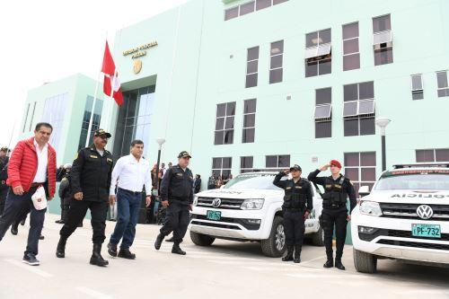 Ministro del interior inauguró división policial de Paijan