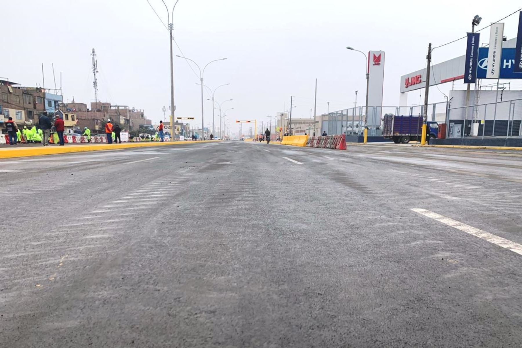 Reabren tramo de carretera Central que fue cerrado por obras del Metro de Lima. Foto: ANDINA/difusión.