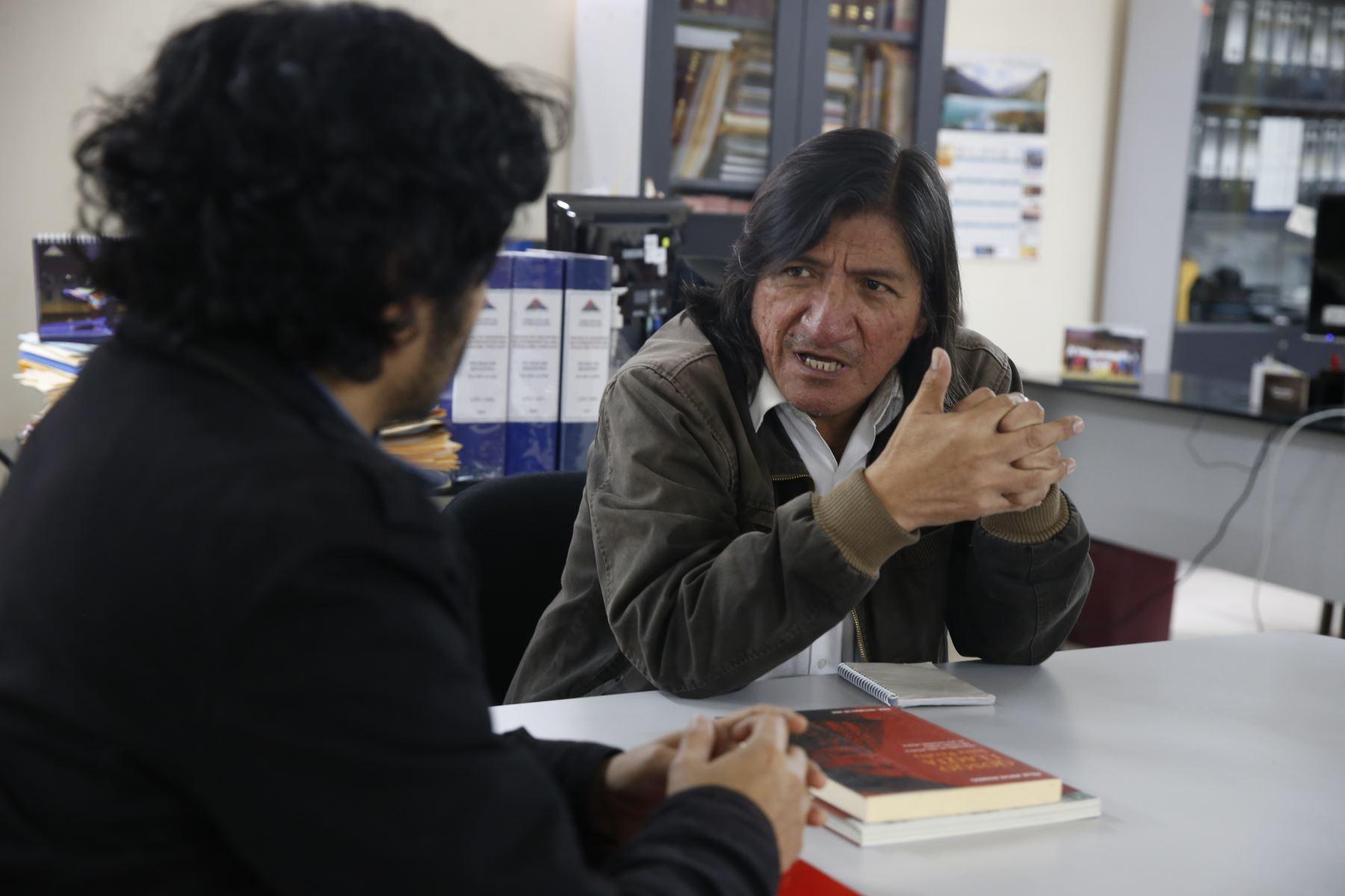 Víctor Hugo Arana desarrolla el proyecto Tradiciones del litoral de la Escuela Nacional de Folklore José María Arguedas. ANDINA/Renato Pajuelo