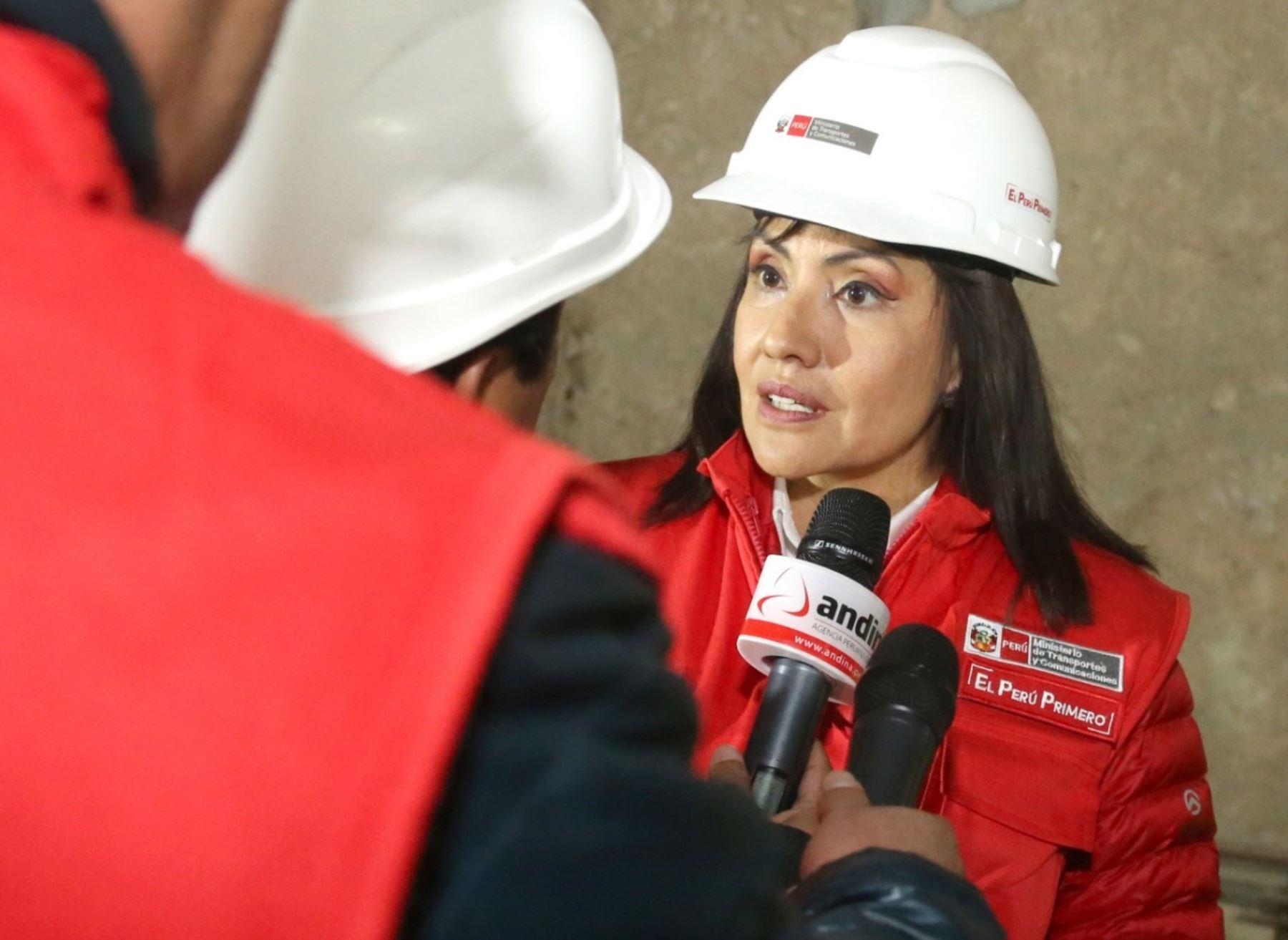 Ministra de Transportes y Comunicaciones, María Jara.