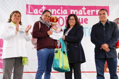 Primera dama participó en el lanzamiento de la Semana Nacional de la Lactancia Materna