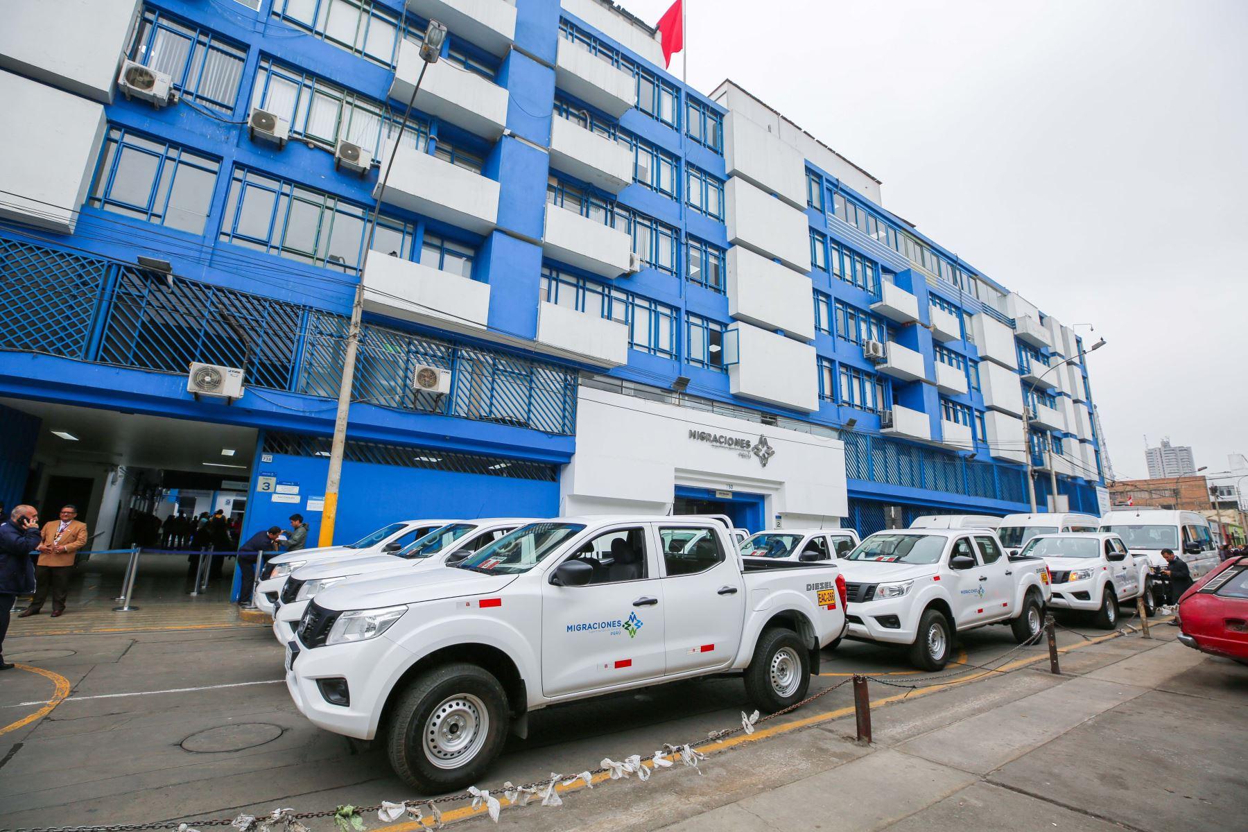 Vehículos ayudarán a las labores del personal en Lima y ciudades fronterizas. Foto: ANDINA/Migraciones