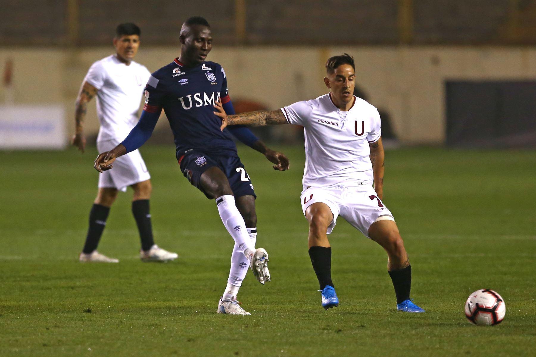 Partido entre Universitario vs. San Martín, empatan 0-0 en el estadio Monumental de Ate.Foto:ANDINA/ Vidal Tarqui