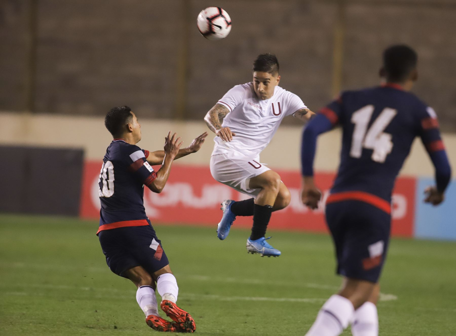Alejando Hohberg, Partido entre Universitario vs. San Martín, empatan 0-0 en el estadio Monumental de Ate Foto: ANDINA/Jorge Tello