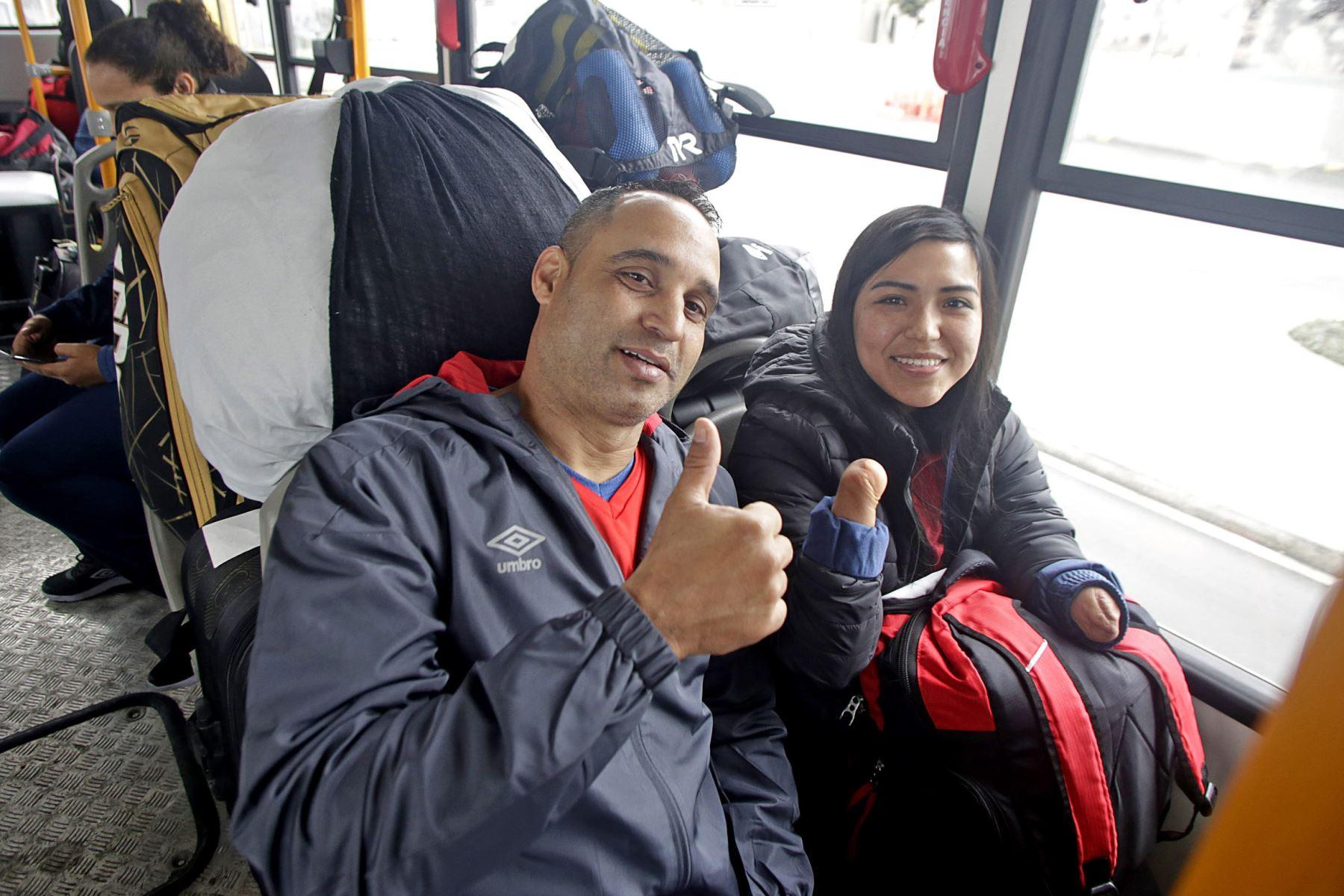 Deportistas de la delegación peruana de los Juegos Parapanamericanos Lima 2019, se instalan en la villa deportiva de VMT.  Foto:ANDINA/ Lima 2019