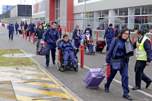 Llegada de deportistas peruanos a la Villa ParaPanamericana 2019