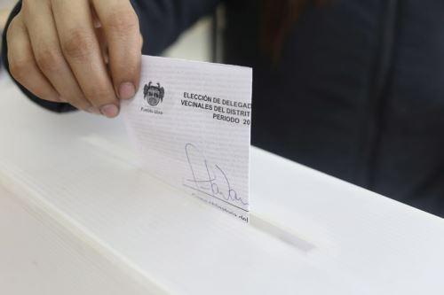 JNE fiscaliza proceso de Elecciones Vecinales 2019 en el distrito de Pueblo Libre