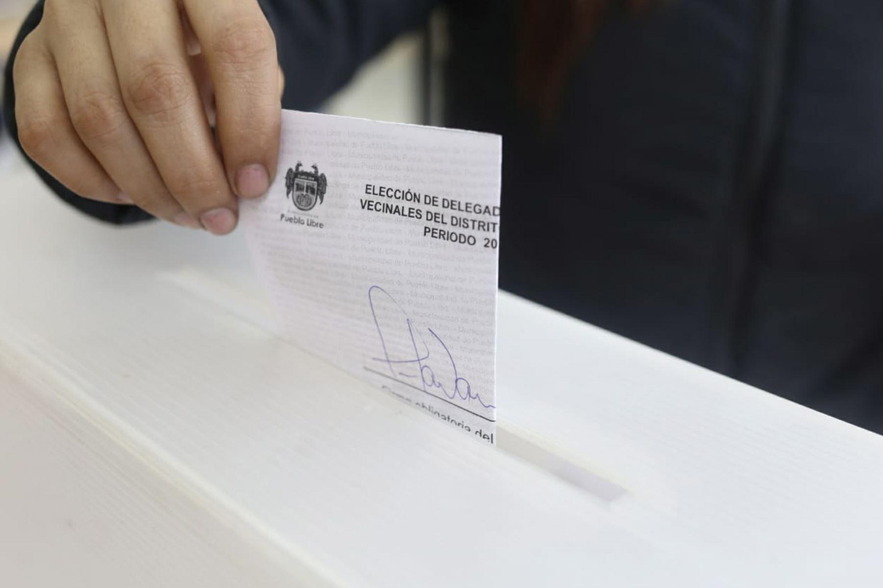Elecciones. Foto: ANDINA/Difusión