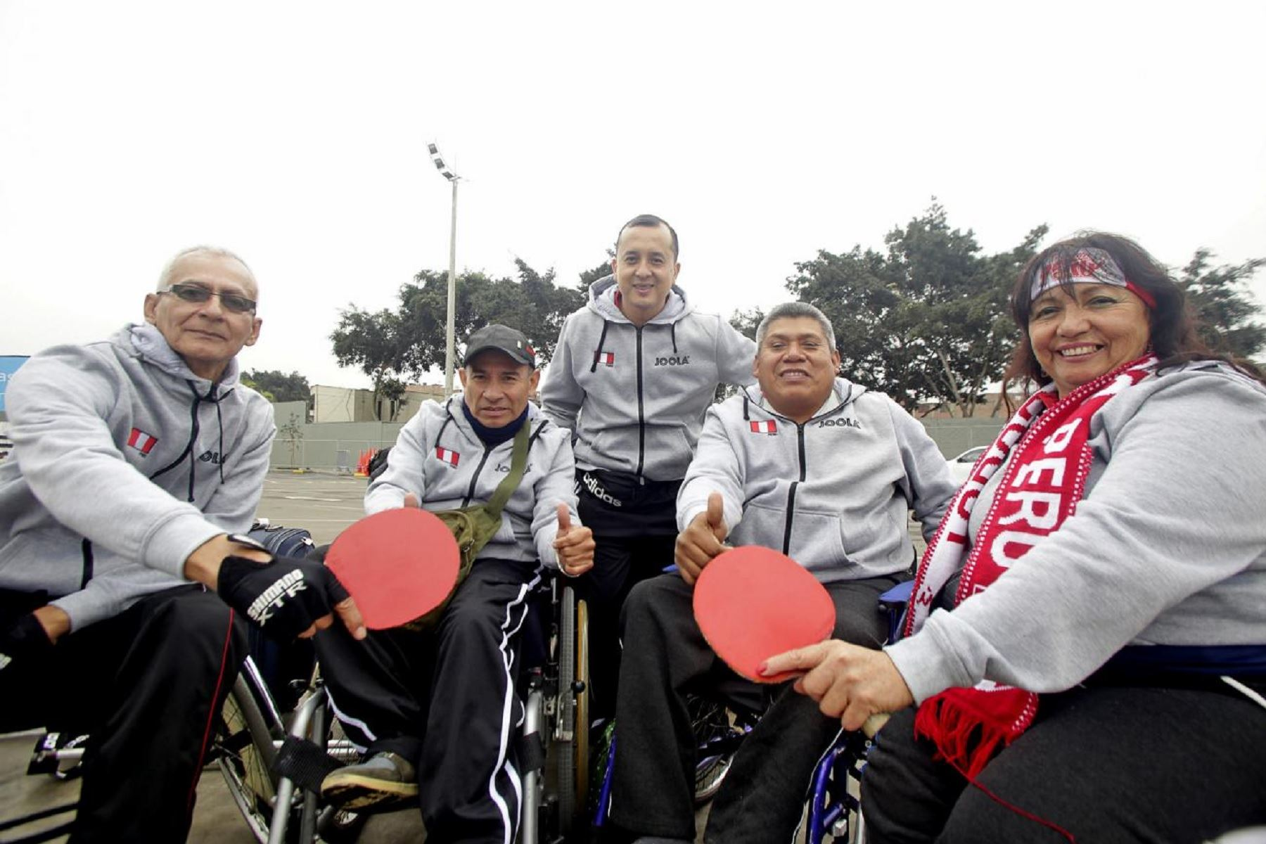 los cuatro integrantes del equipo peruano de paratenis de mesa. Foto: Lima2019