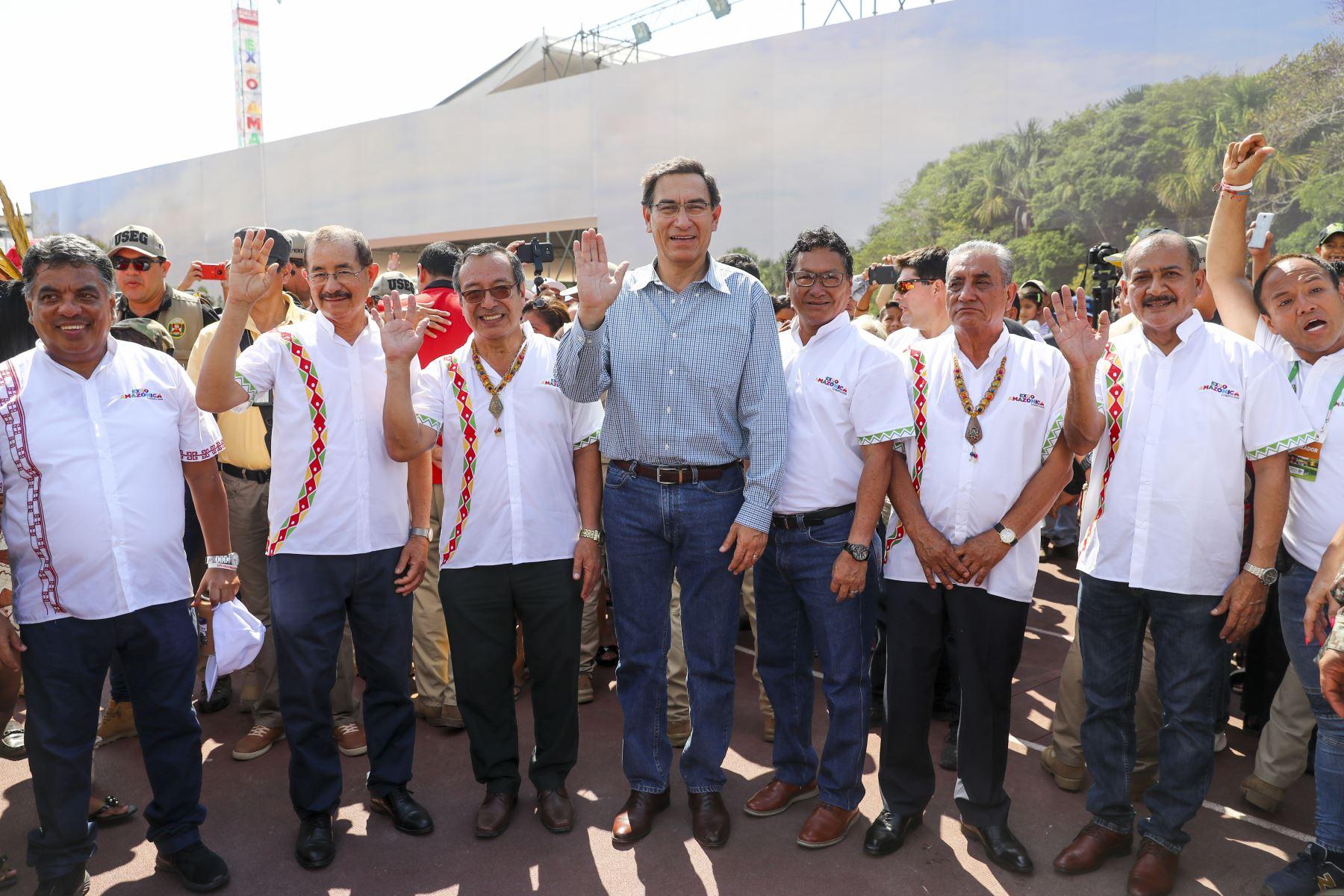 El presidente de la república Martin Vizcarra, clausura la Expo Amazónica 2019 en Iquitos.  Foto: ANDINA/Prensa Presidencia
