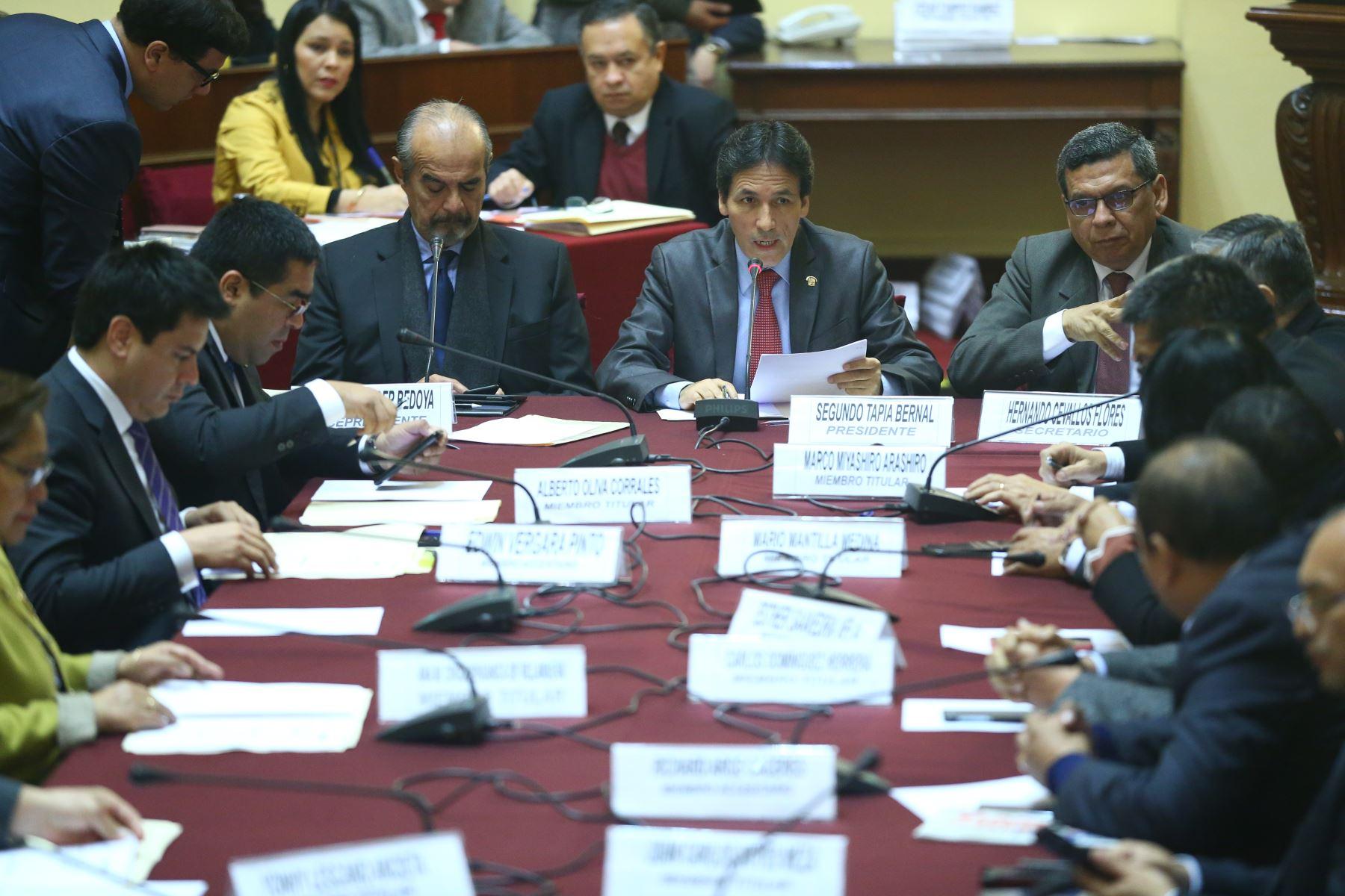 Instalación de la Comisión de Fiscalización,  cuya presidencia recae en el congresista Segundo Tapia. Foto: ANDINA/Melina Mejía