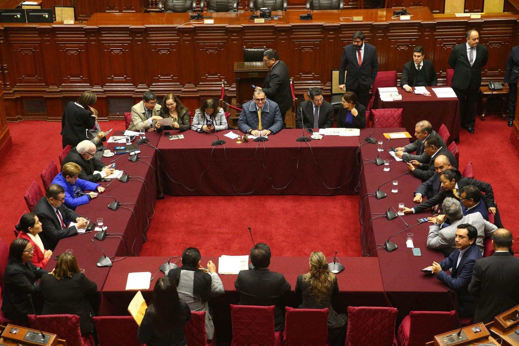 Instalación de la Comisión Permanente presidida por el  congresista Pedro Olaechea . Foto: ANDINA/Melina Mejía