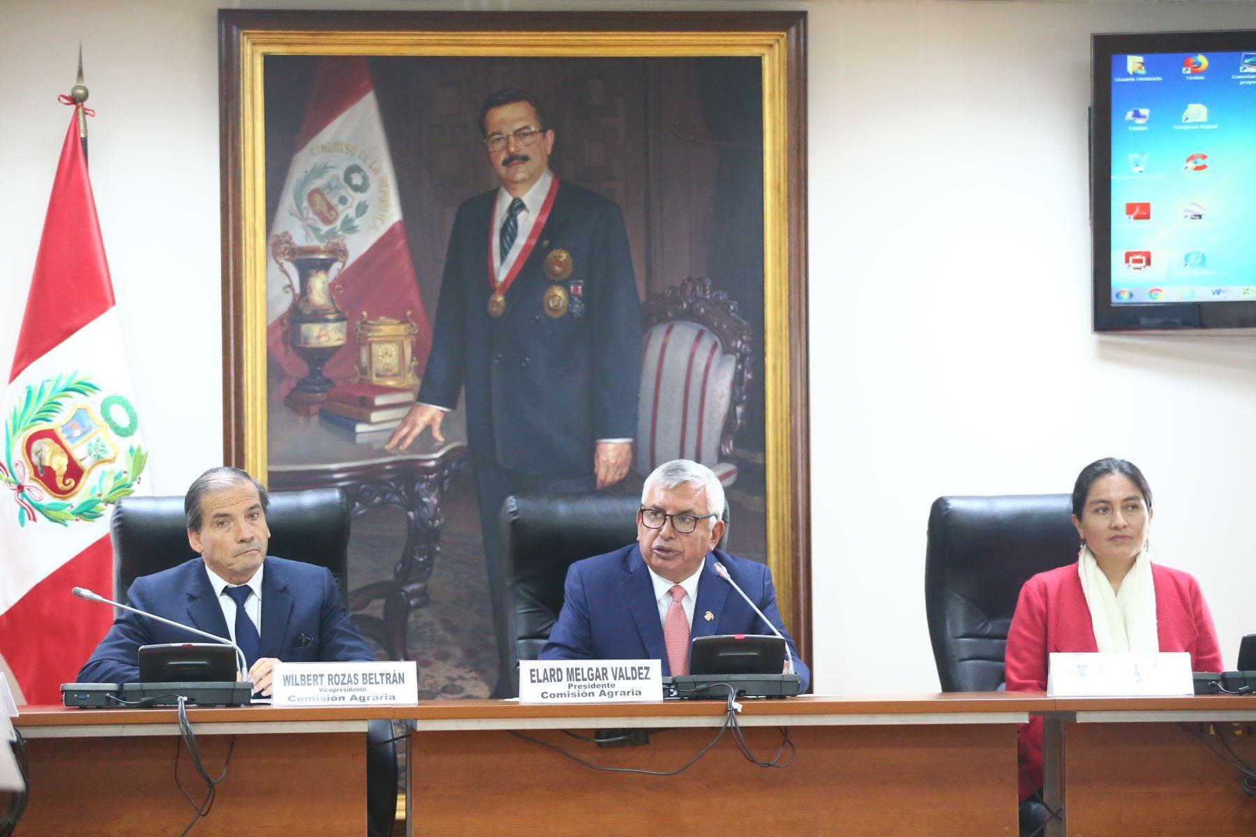 Instalación de la Comisión Agricultura presidida por el  congresista Elard Melgar . Foto: ANDINA/Melina Mejía
