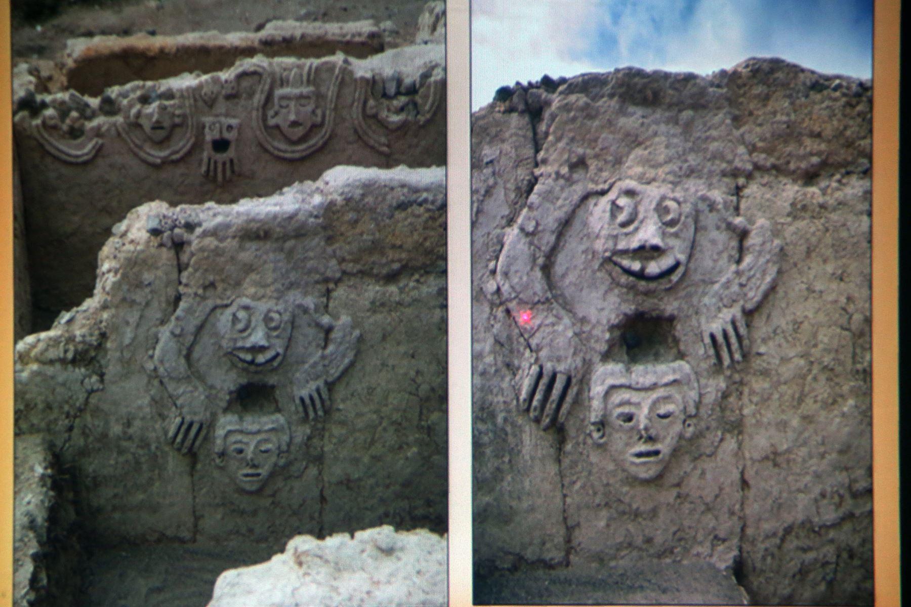 Un sapo humano entre nuevos hallazgos de civilización más antigua de América. ANDINA/Norman Córdova