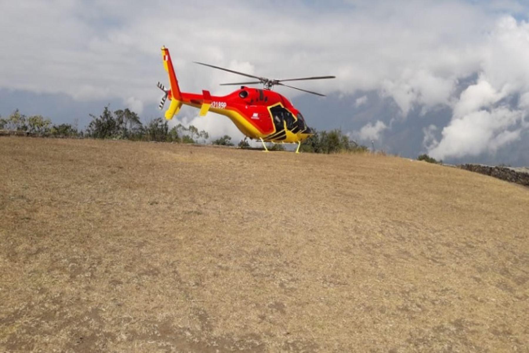 Sin contar con autorización, un helicóptero de la empresa Heliamerica SAC aterrizó en Choquequirao el 15 de agosto.